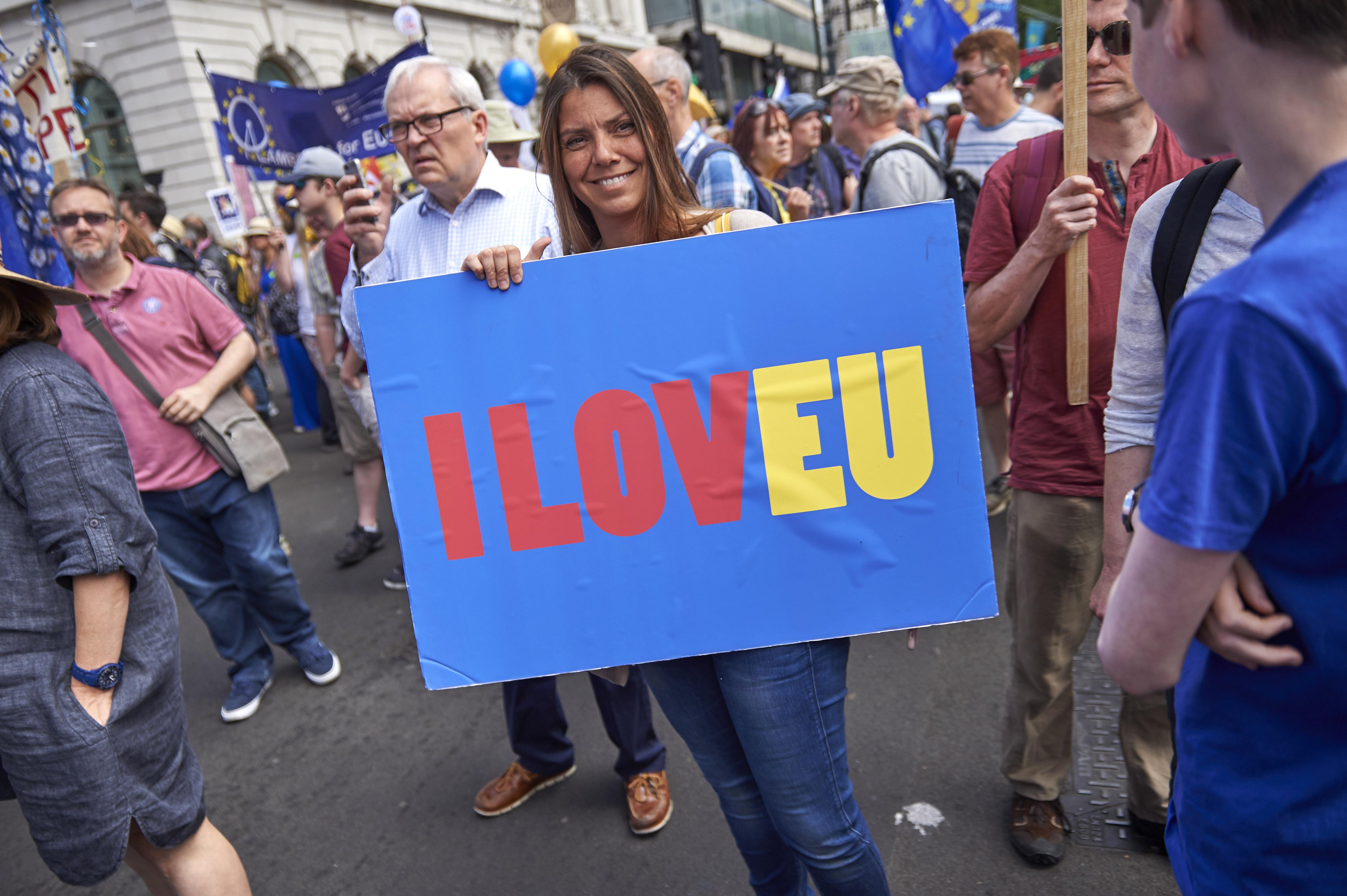 A Brexit ellen tüntettek Londonban