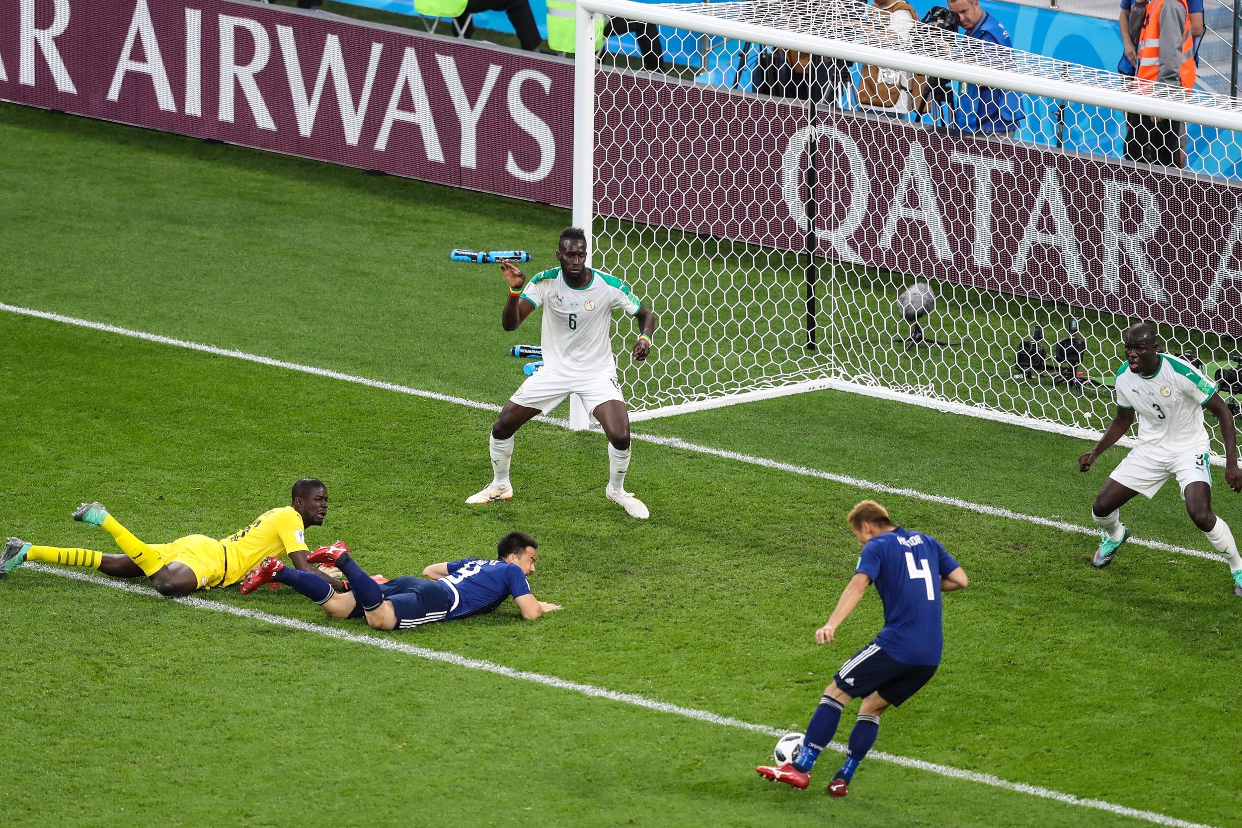 Csodás meccsen Szenegál-Japán 2-2, még mindketten simán továbbjuthatnak