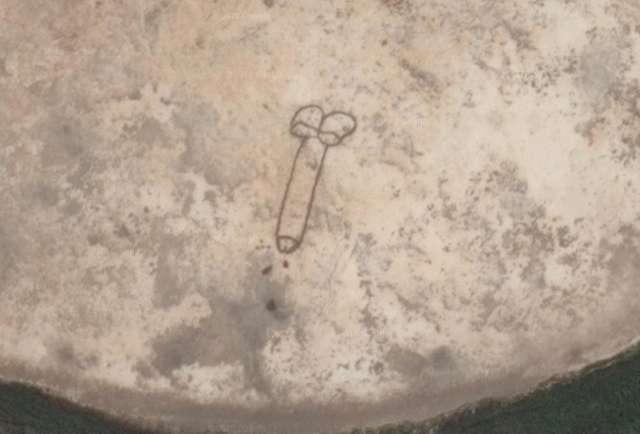 Valaki akkora péniszt graffitizett Ausztráliában, hogy még az űrből is látszik