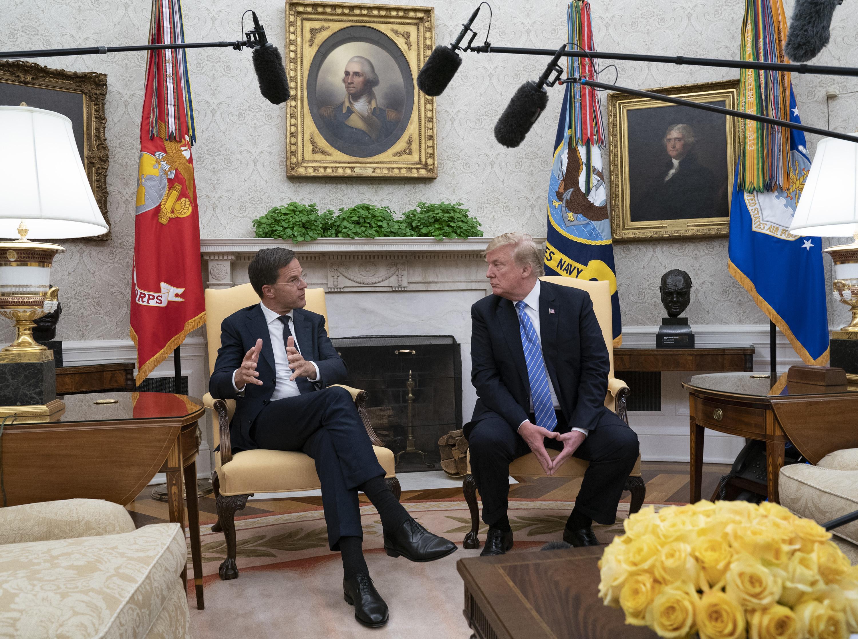 """""""Nem!"""" - szólt közbe a holland miniszterelnök, amikor Trump arról beszélt, az is pozitív, ha nincs megállapodás az EU-val"""