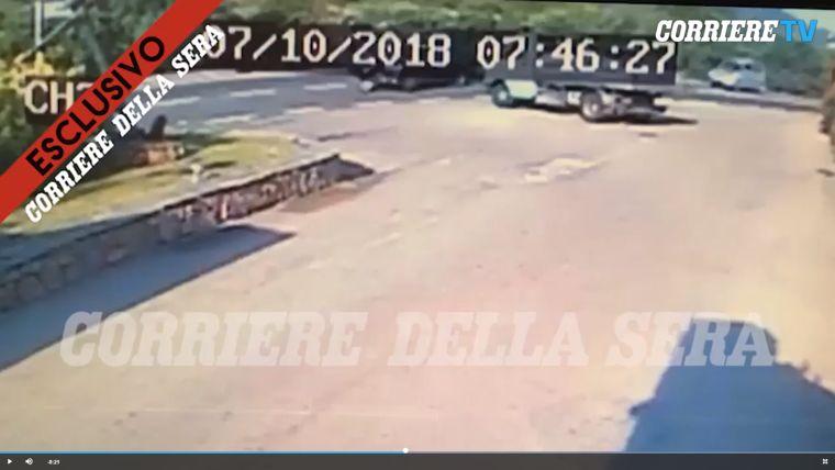 Videó készült George Clooney motorbalesetéről