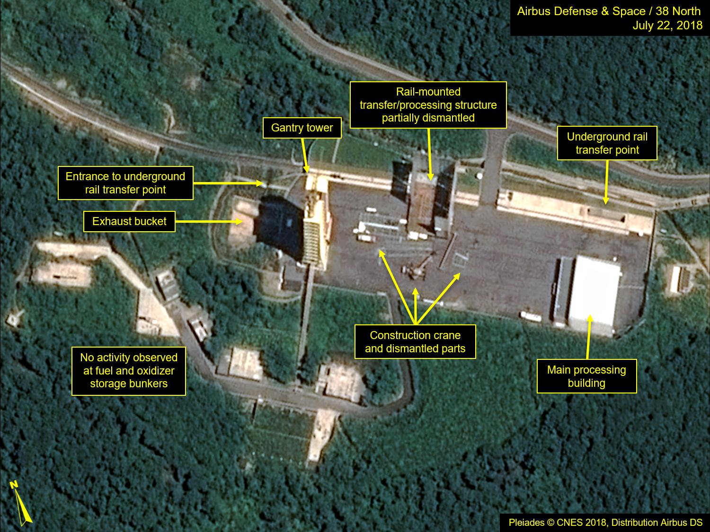Észak-Korea elkezdte lebontani egyik rakétakísérleti telepét