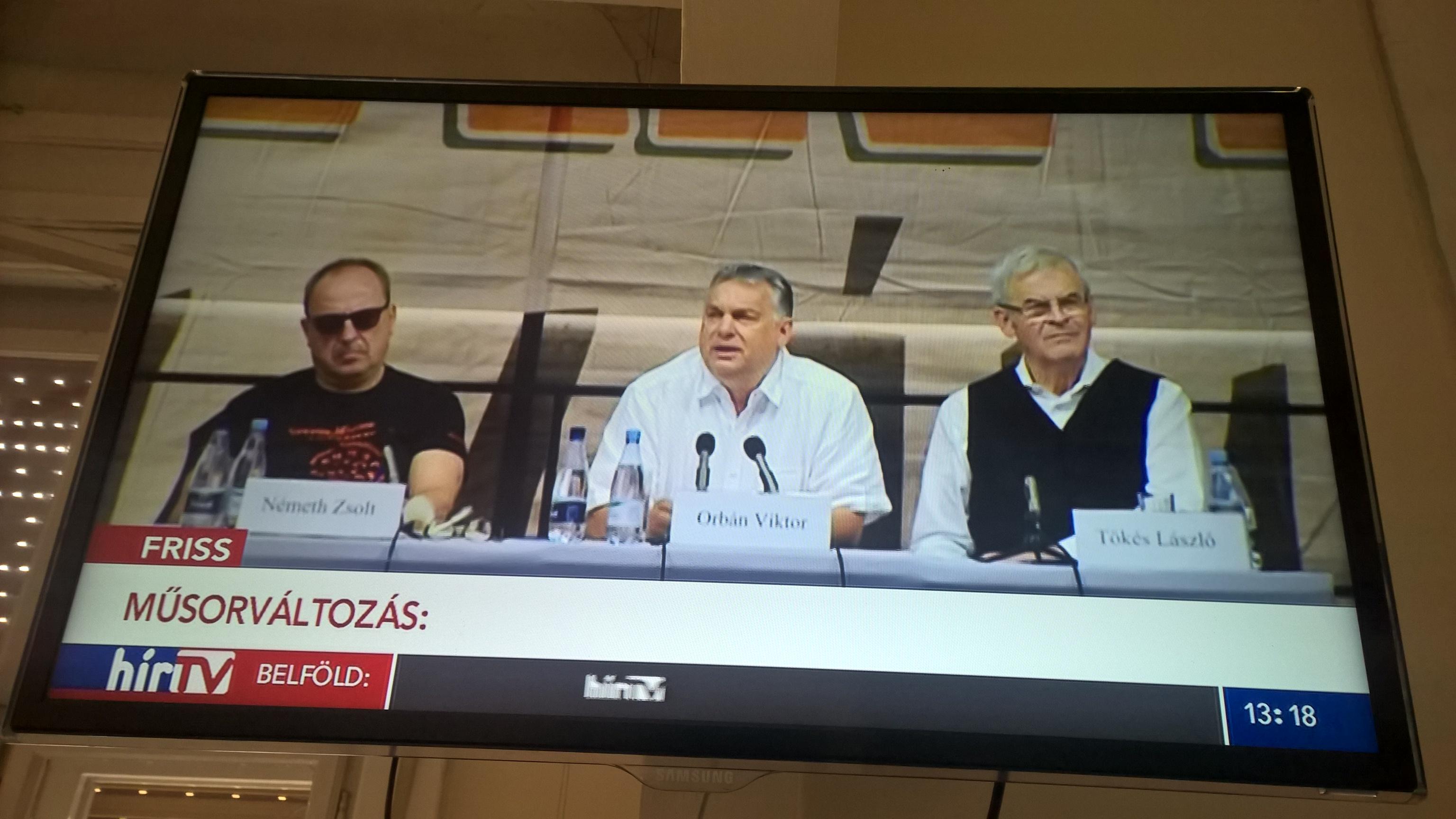 Kálmán Olga műsora helyett Orbán beszédét ismétli a Hír TV