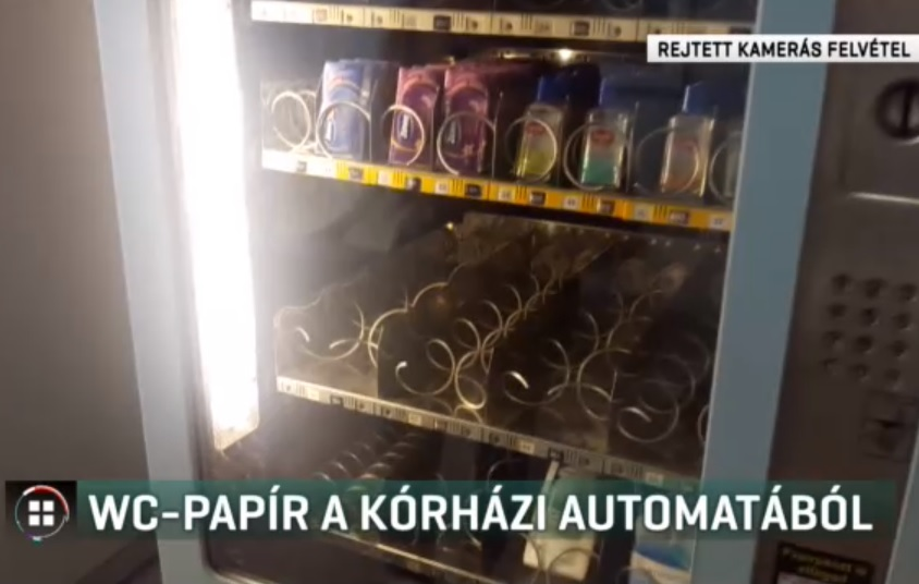 RTL Híradó: Kifogyott a vécépapír a Semmelweis Egyetem tüdőklinikájának automatájából
