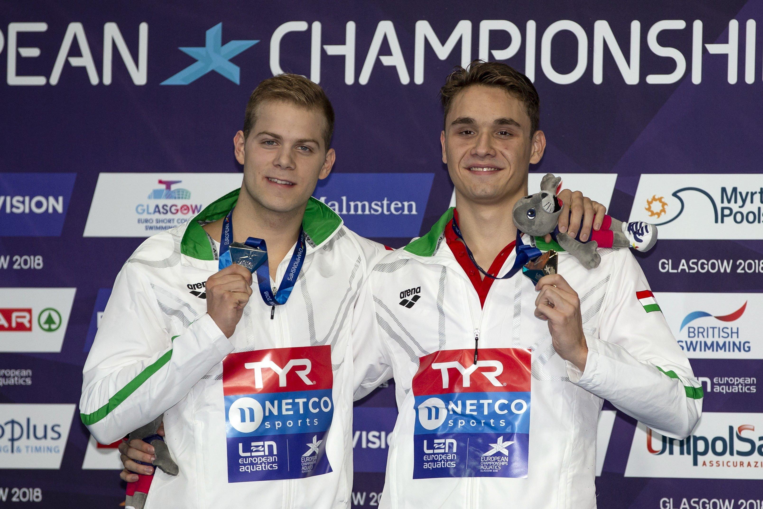 Az aranyat és az ezüstöt is magyar versenyző nyerte 200 pillangón a glasgow-i úszó Európa-bajnokságon