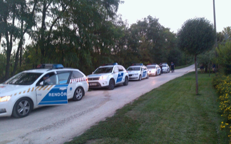 A Kutyapárt betömött két kátyút Felcsúton, húsz rendőr igazoltatta őket