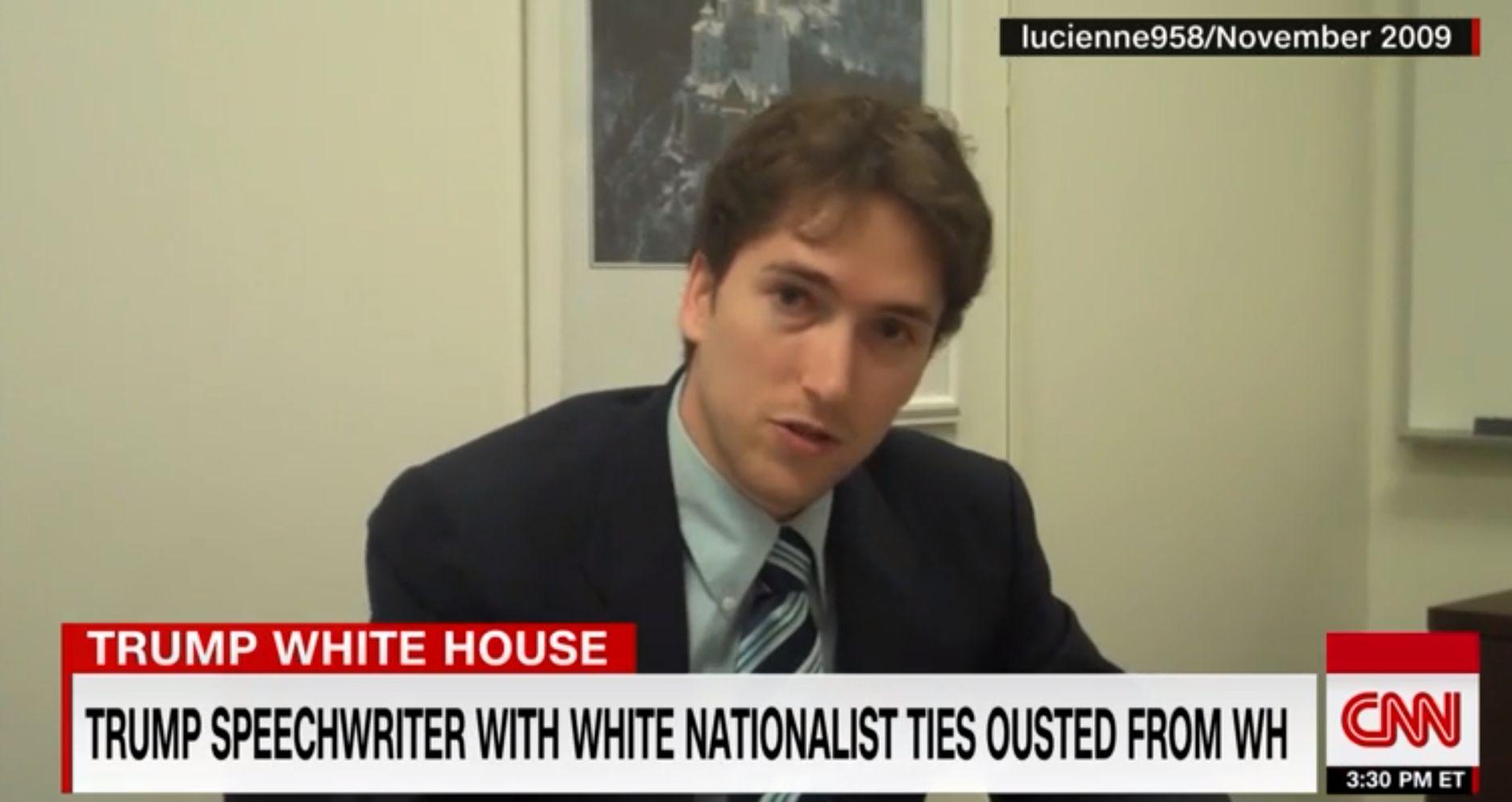 Kirúgták Trump náci konferenciát is megjárt beszédíróját