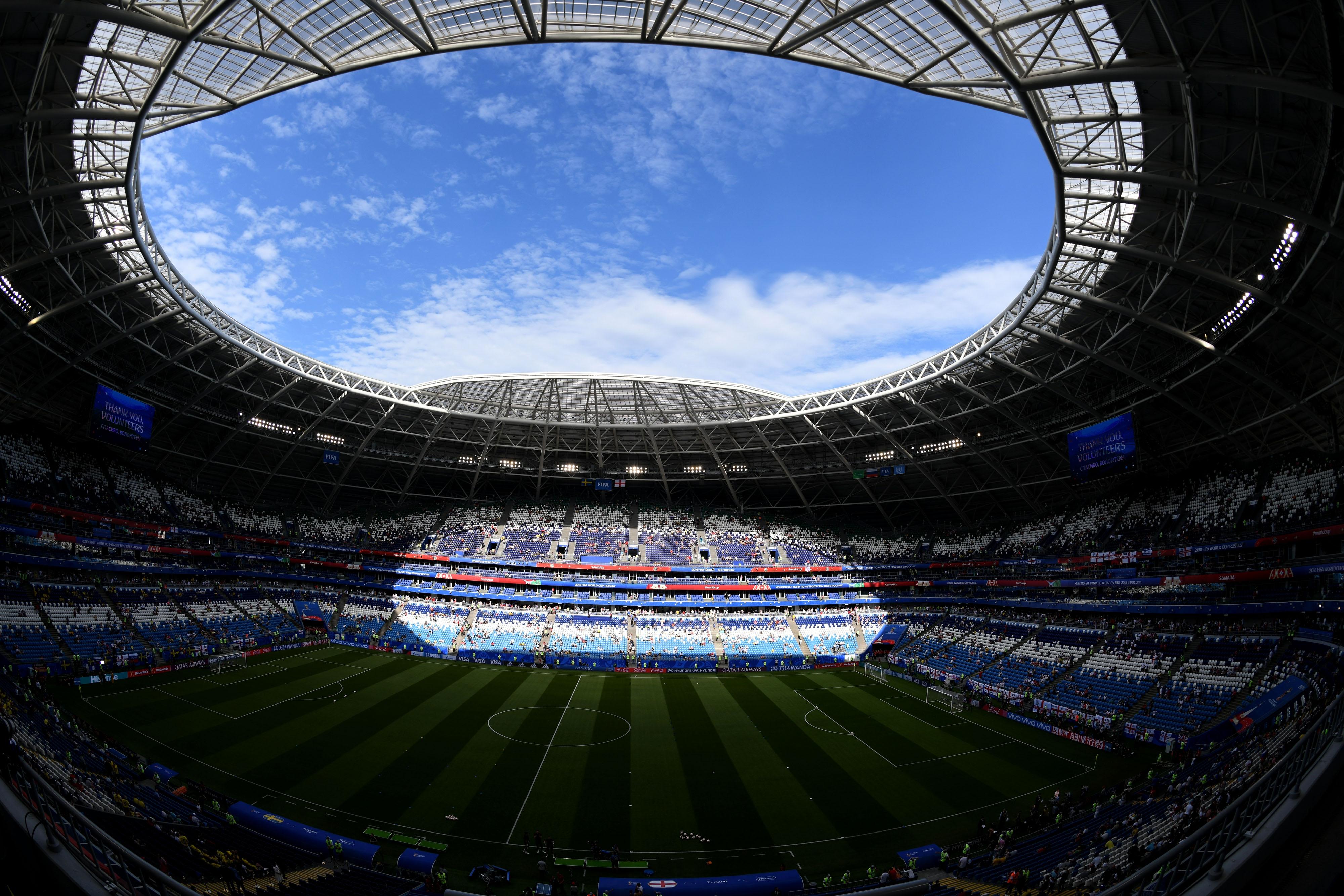 A nyári orosz vébé egyik stadionjában a kifizetetlen számlák miatt kikapcsolták az áramot