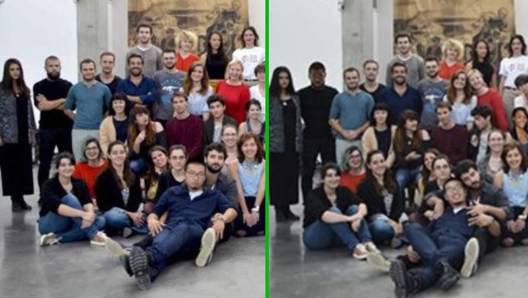 Egy francia művészeti iskola feketéket photoshopolt egy csoportképre, hogy így tegyék magukat vonzóbbá az amerikaiak körében