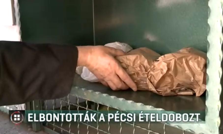 Elbontották a pécsi ételdobozt, ahol a rászorulóknak lehetett élelmiszert hagyni