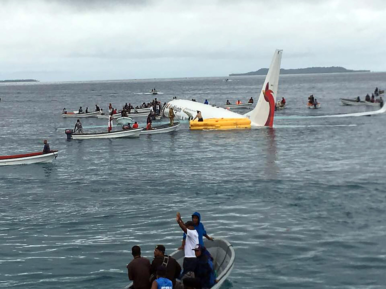 A vízen landolt egy utasszállító Mikronéziában