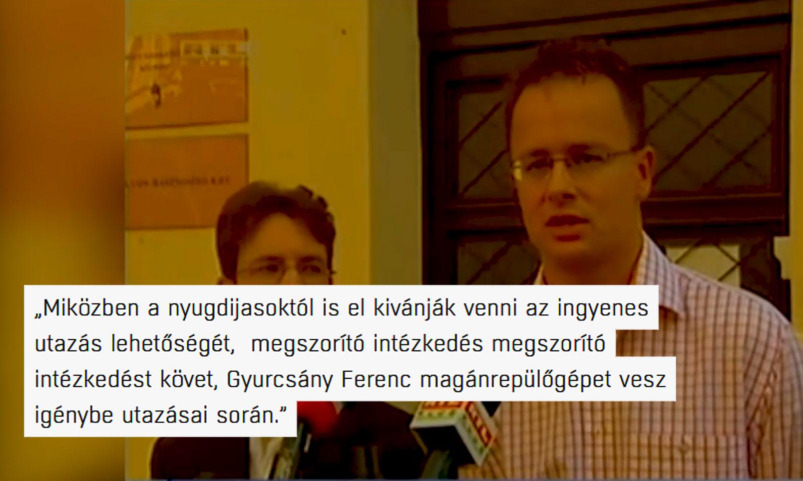 Szijjártó Péter 2006-ban igencsak fel volt háborodva, hogy Gyurcsány magánrepülőgépet vesz igénybe utazásai során
