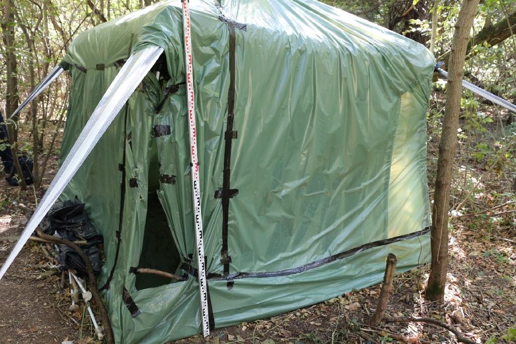 A Deszk közeli erdőben, sátorban növesztették a kendert