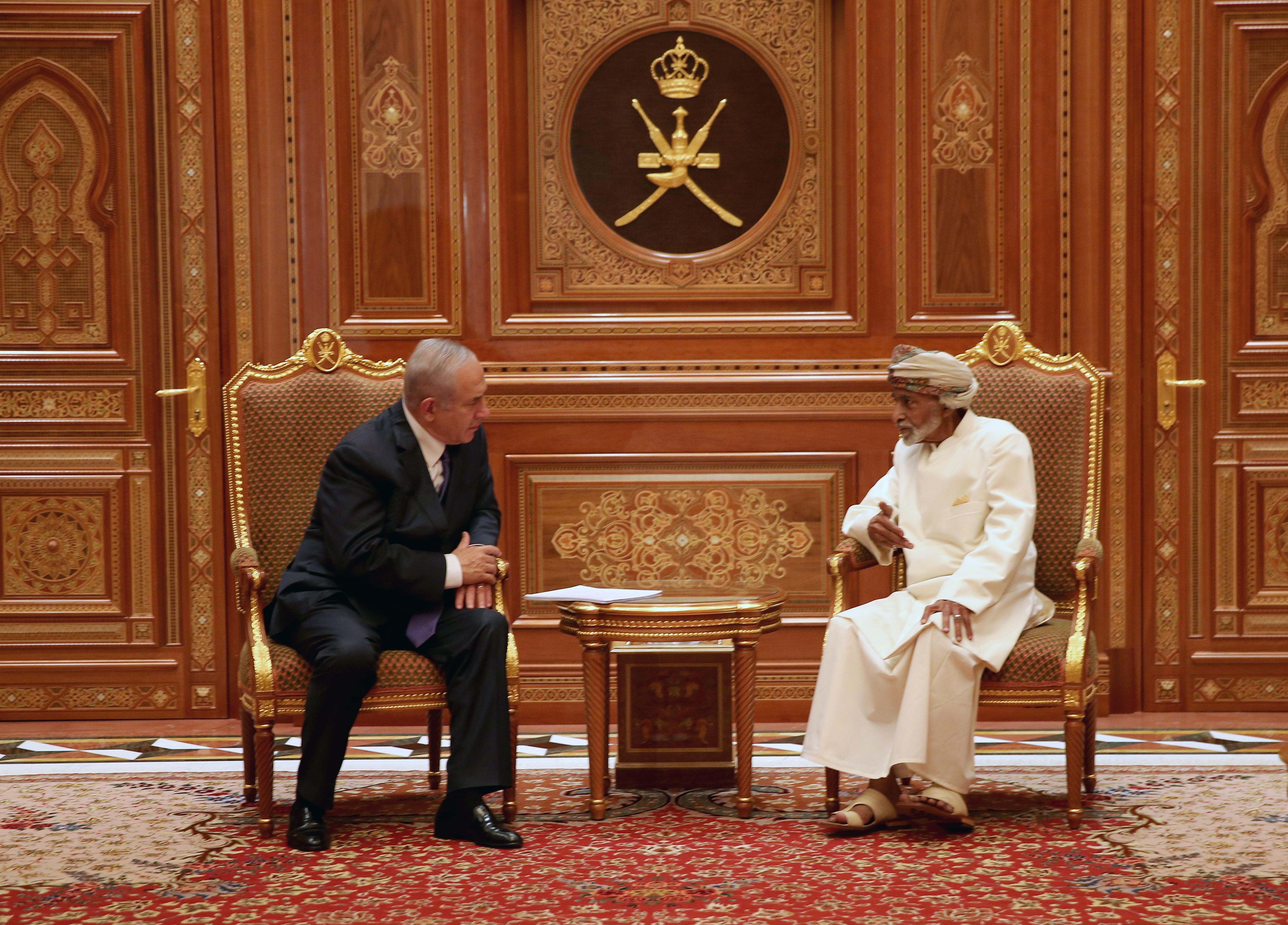 Netanjahu Ománba látogatott, a szultán meghívására