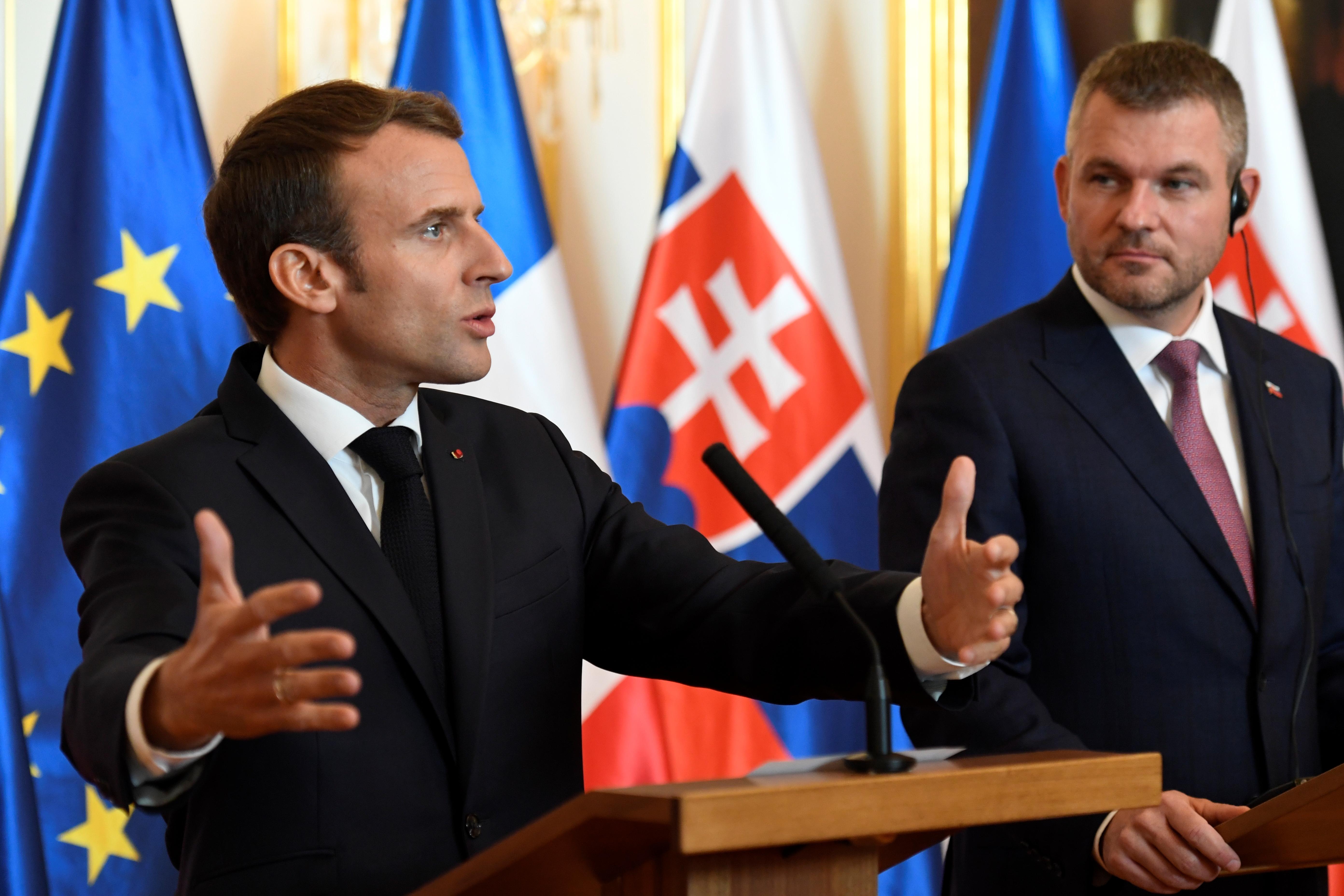 Macron a CEU-ról is beszélt szlovákiai látogatásán