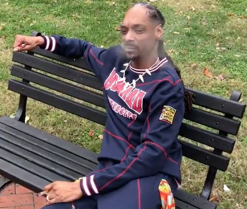 Snoop Dogg elment Washingtonba, és elszívott egy spanglit a Fehér Ház előtt
