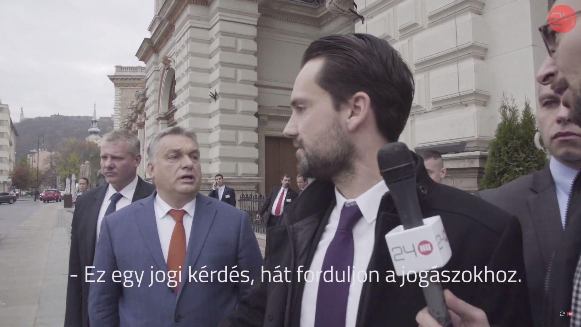 Orbán Viktor a jogászokhoz irányította a Nikola Gruevszkiről érdeklődő újságírót