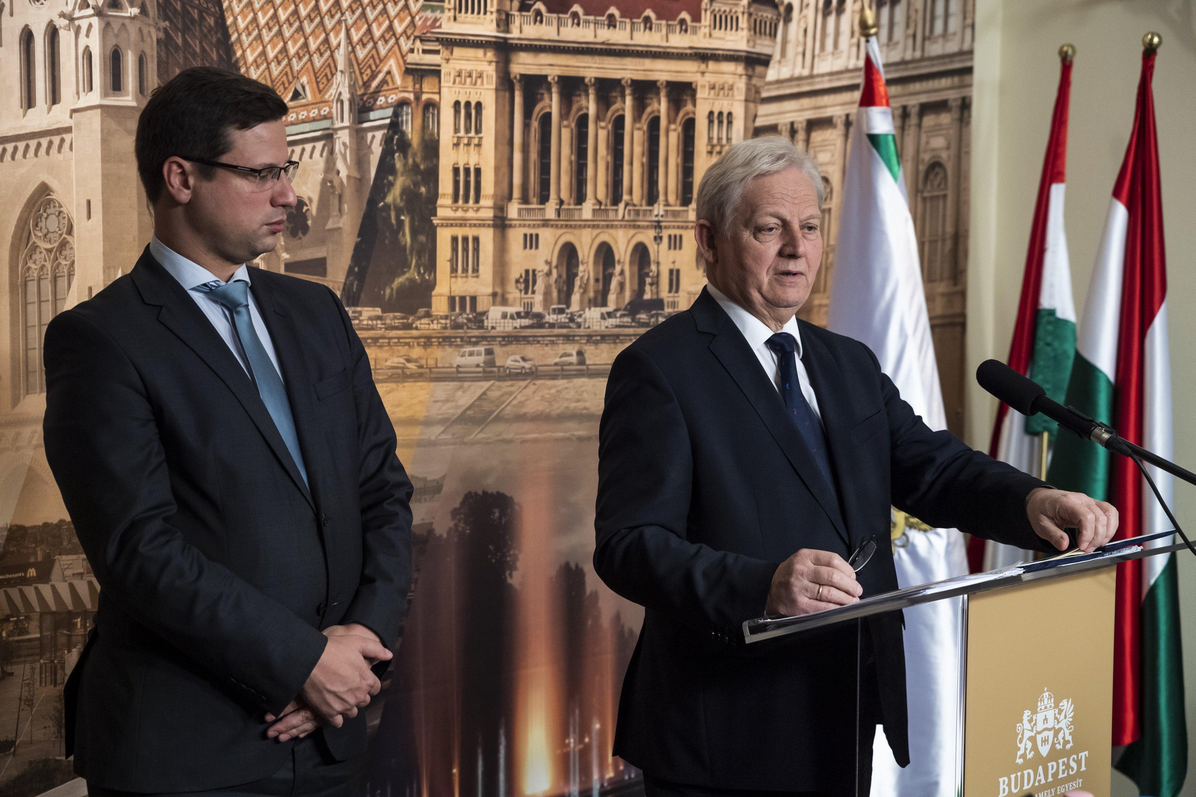 Tarlós: Kb. 1000 milliárd forintot jelent Budapestnek az Orbánnal aláírt megállapodás
