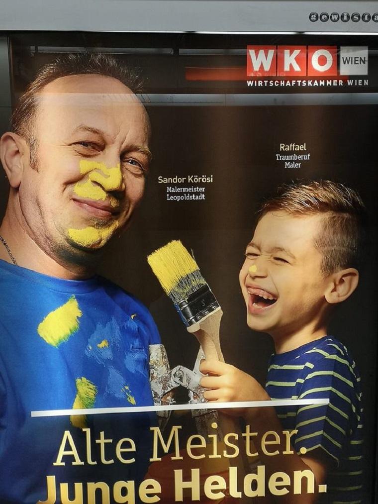 Íme az ausztriai magyar migráns, akinek annyira bejött az élet, hogy plakátkampányt építettek rá, igaz, nem gyűlölködőt