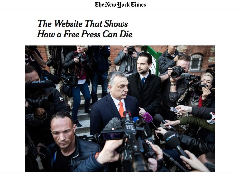 A New York Times hosszú cikkben mutatja meg, hogyan foglalták el Orbán emberei az Origót
