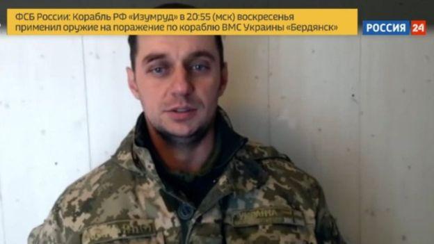 Orosz kamerák elé ültették a foglyul ejtett ukrán matrózokat