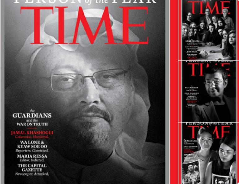 Az áldozattá vált újságírók lettek az év emberei a Time magazinban
