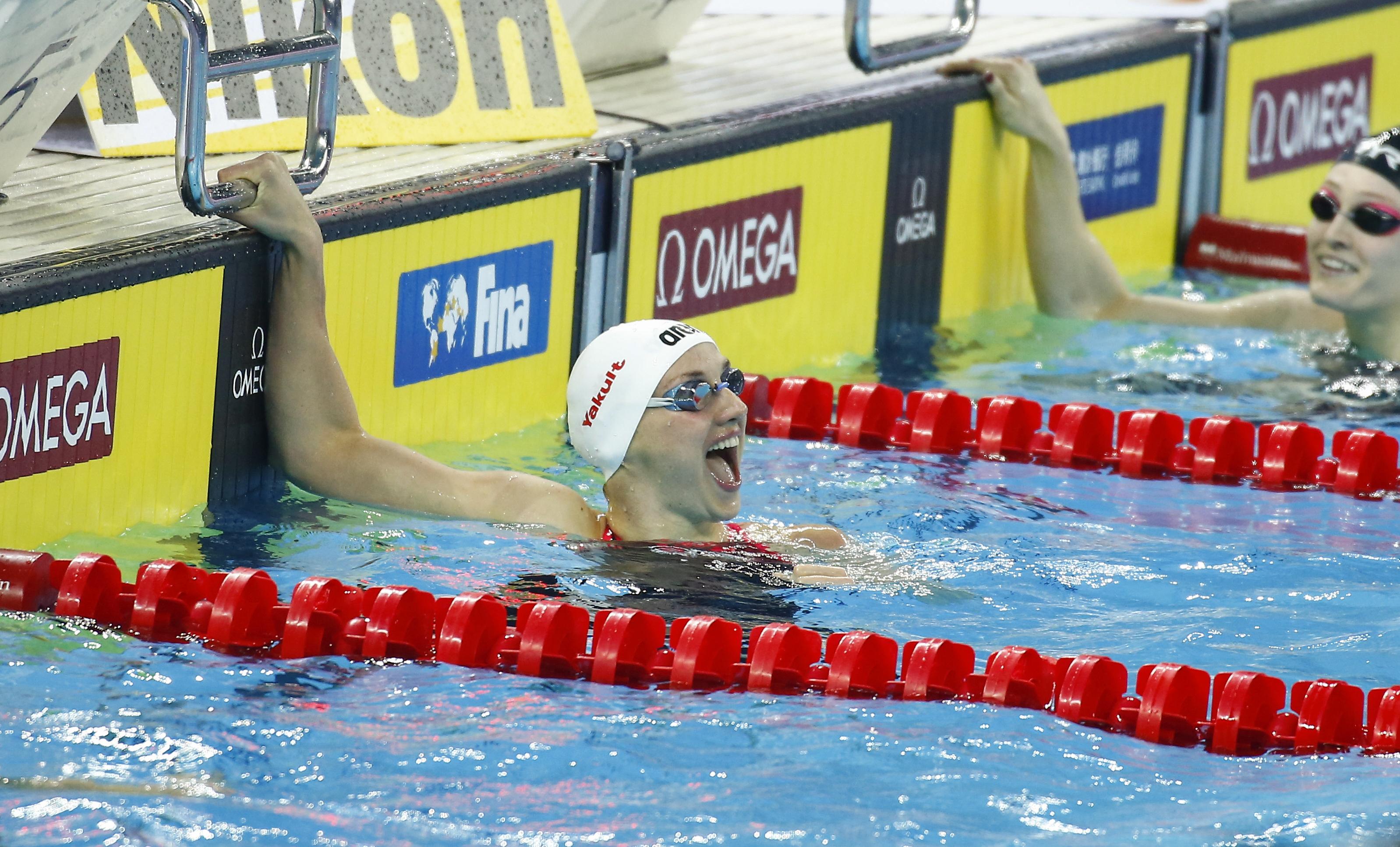 Hosszú Katinka ezüstérmet nyert a rövidpályás úszó vébén