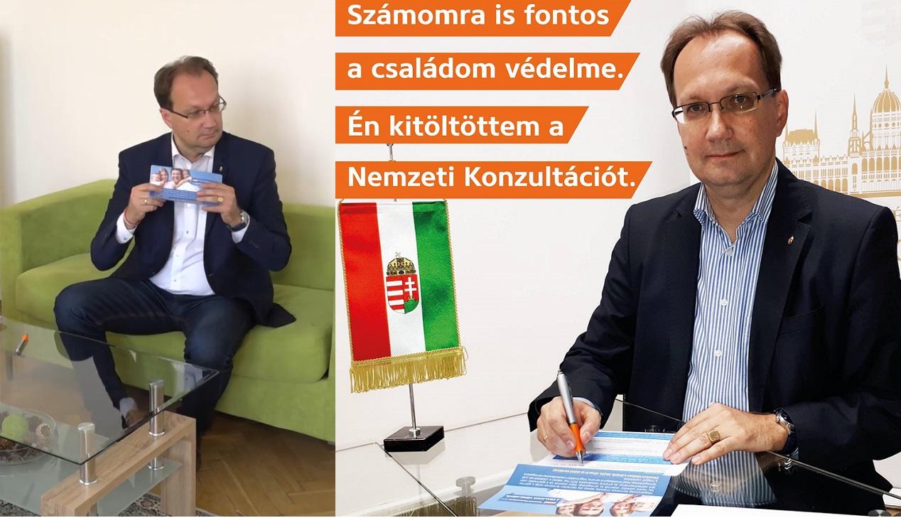 A fideszes képviselő annyira belejött, hogy többször is kitöltötte a nemzeti konzultációt
