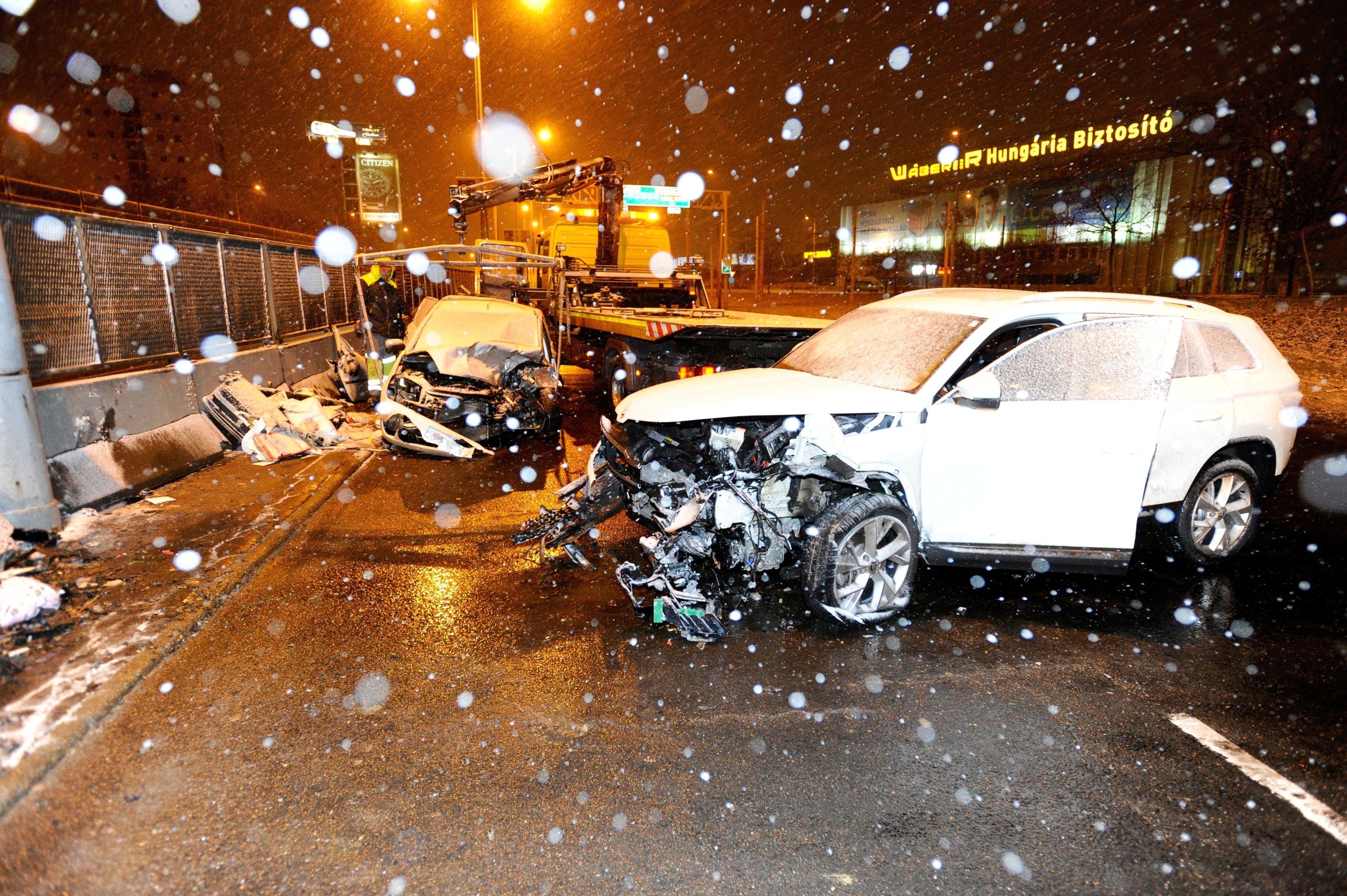 Forgalommal szemben ment egy autó az M3-as zuglói bevezetőjén