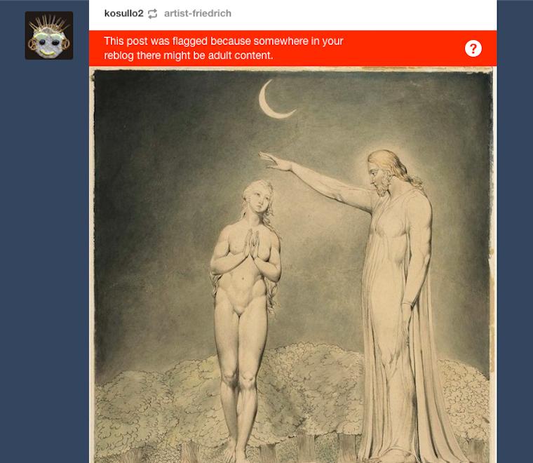 A pina a megújult Tumblren akkor is tiltott, ha XIX. századi, festett és Évaé, az első asszonyé a Földön