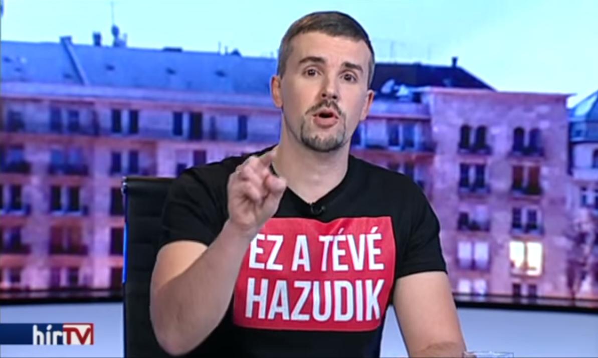 Fergeteges komédia lett a jobbikos Jakab Péter Hír TV-s szerepléséből