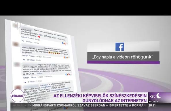 Facebook-kommentekre mutogatva vihorászik az ellenzéken a közszolgálati híradó