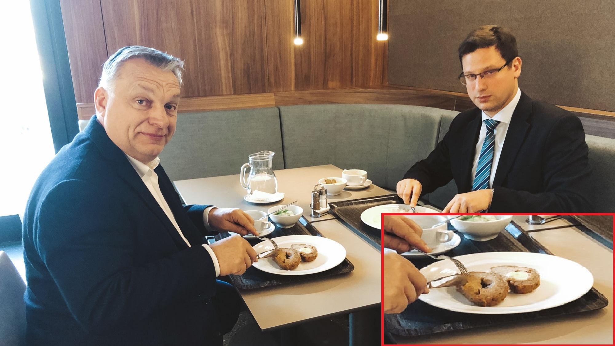 Megkérték Orbán Viktort, hogy ragadjon kést és villát az ebédhez, de nem teljesen sikerült