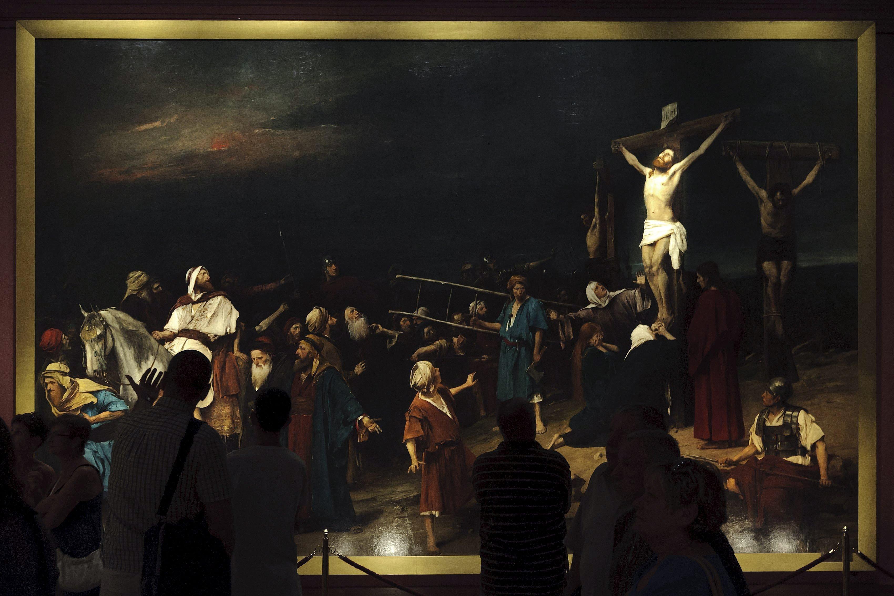 A kormány 3 milliárd forintért megvásárolta Munkácsy Mihály Golgota című festményét