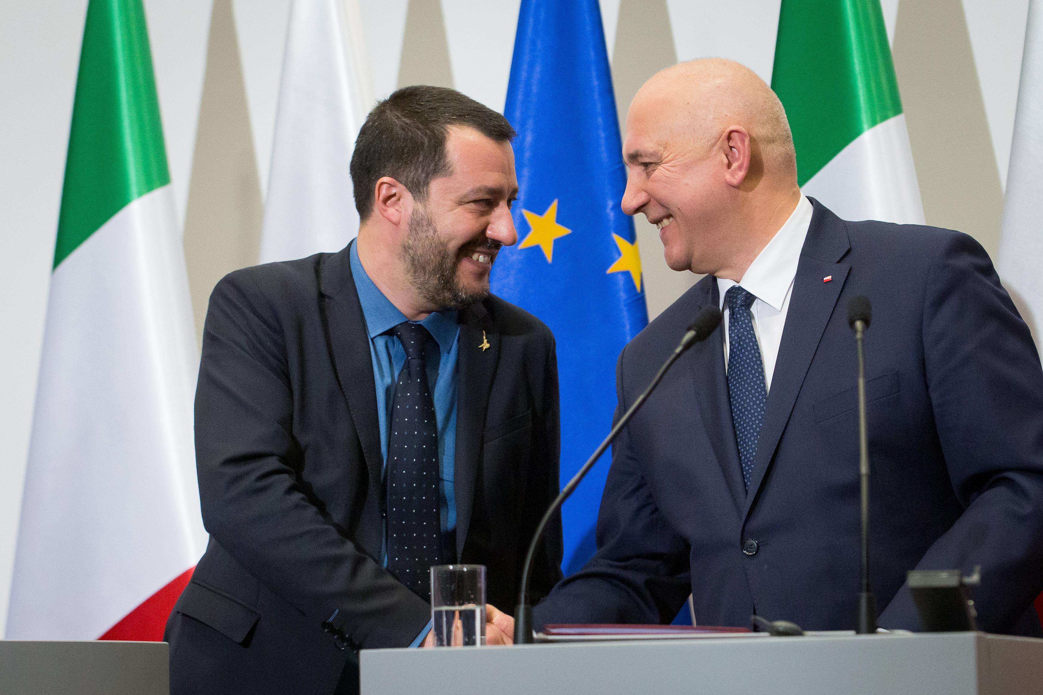 Salvini szerint Róma és Varsó jelentheti az új európai egyensúlyt a francia-német tengely helyett