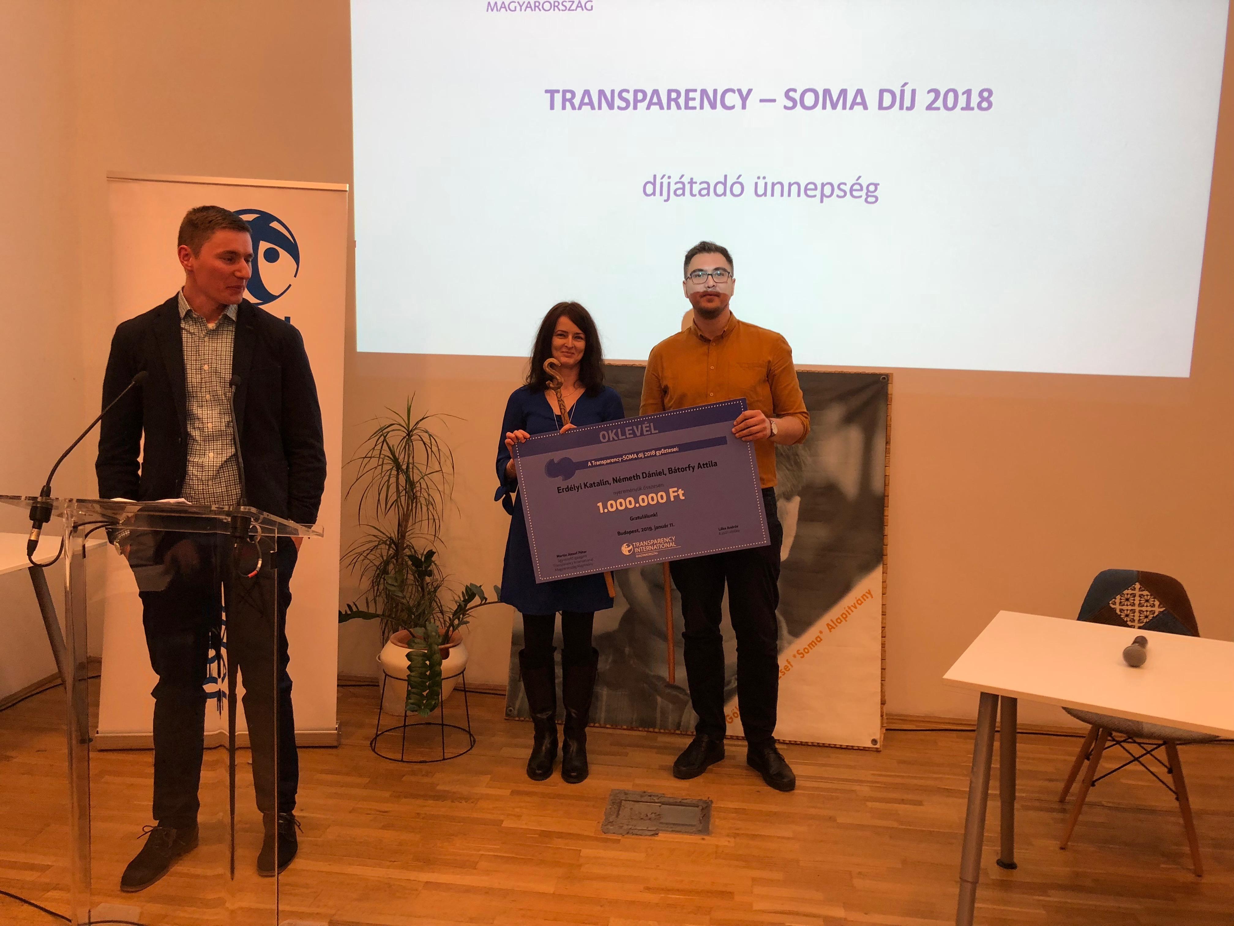 Az Átlátszó újságírói nyerték a 2018-as Soma-díjat Orbán magánrepülőzésének feltárásáért