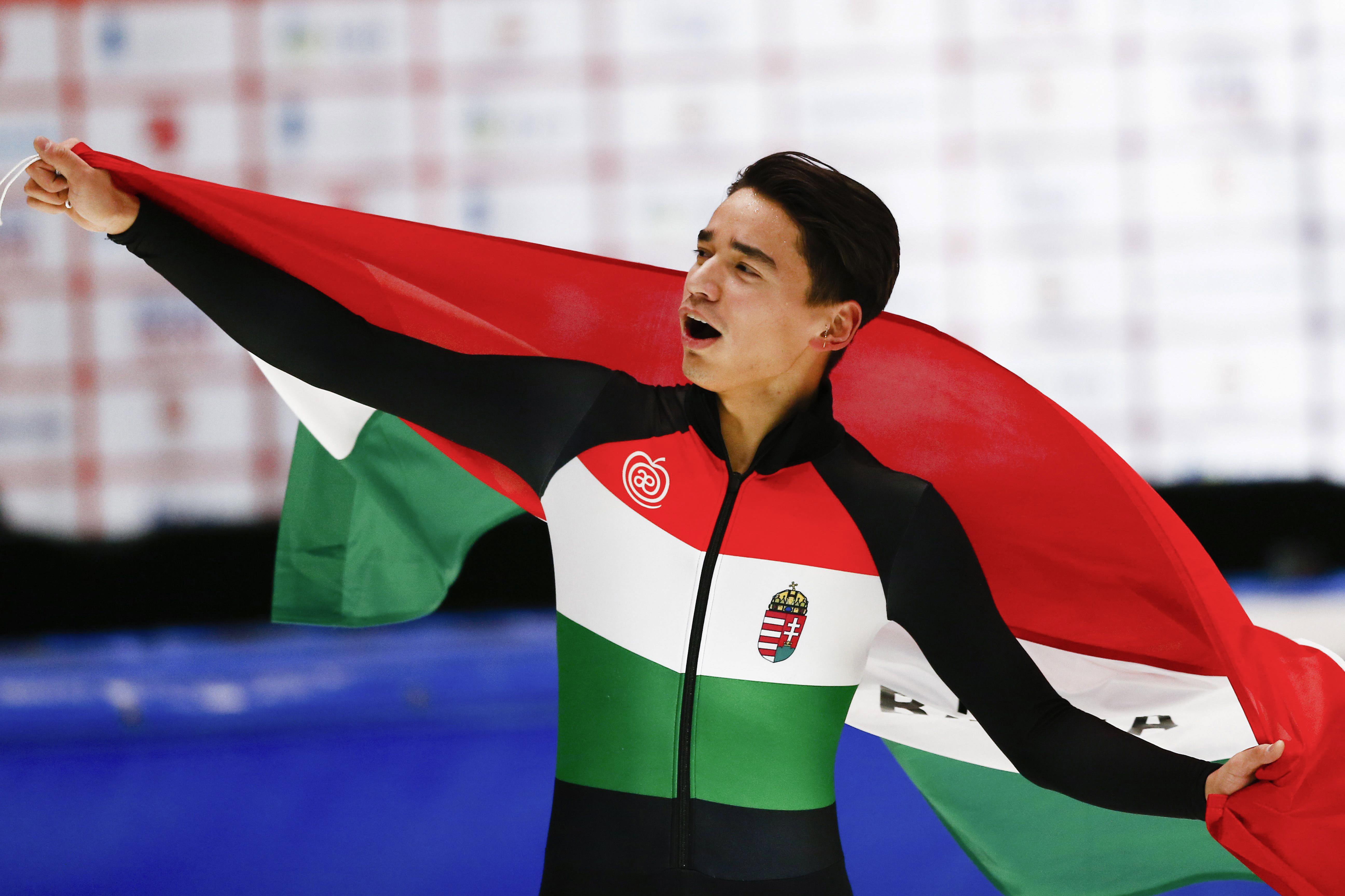 Liu Shaolin Sándor megszerezte Magyarország történetének első összetett aranyérmét a gyorskorcsolya EB-n