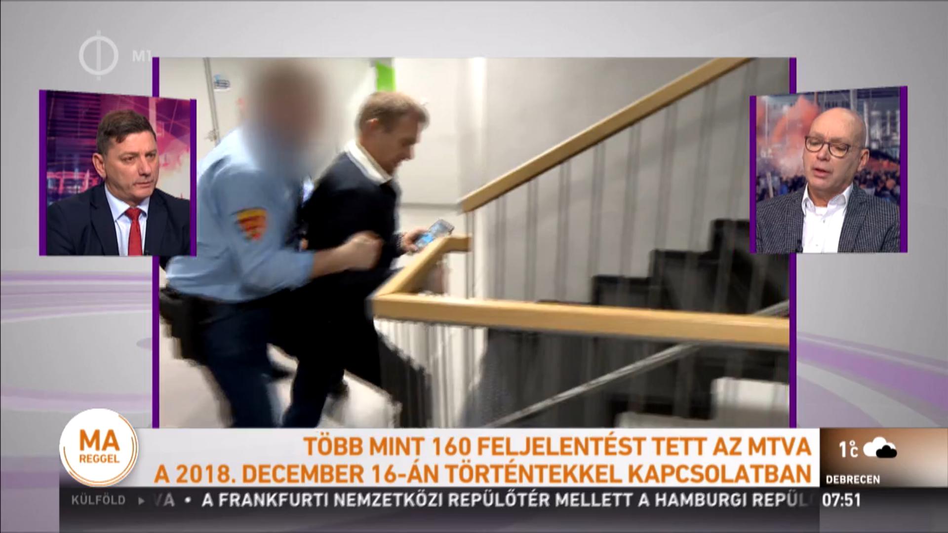 Az adatvédelmi hatóság vezetője szerint bűncselekményt követhettek el az ellenzéki képviselők, amikor élőben közvetítették, ahogy erőszakkal dobják ki őket az MTVA épületéből