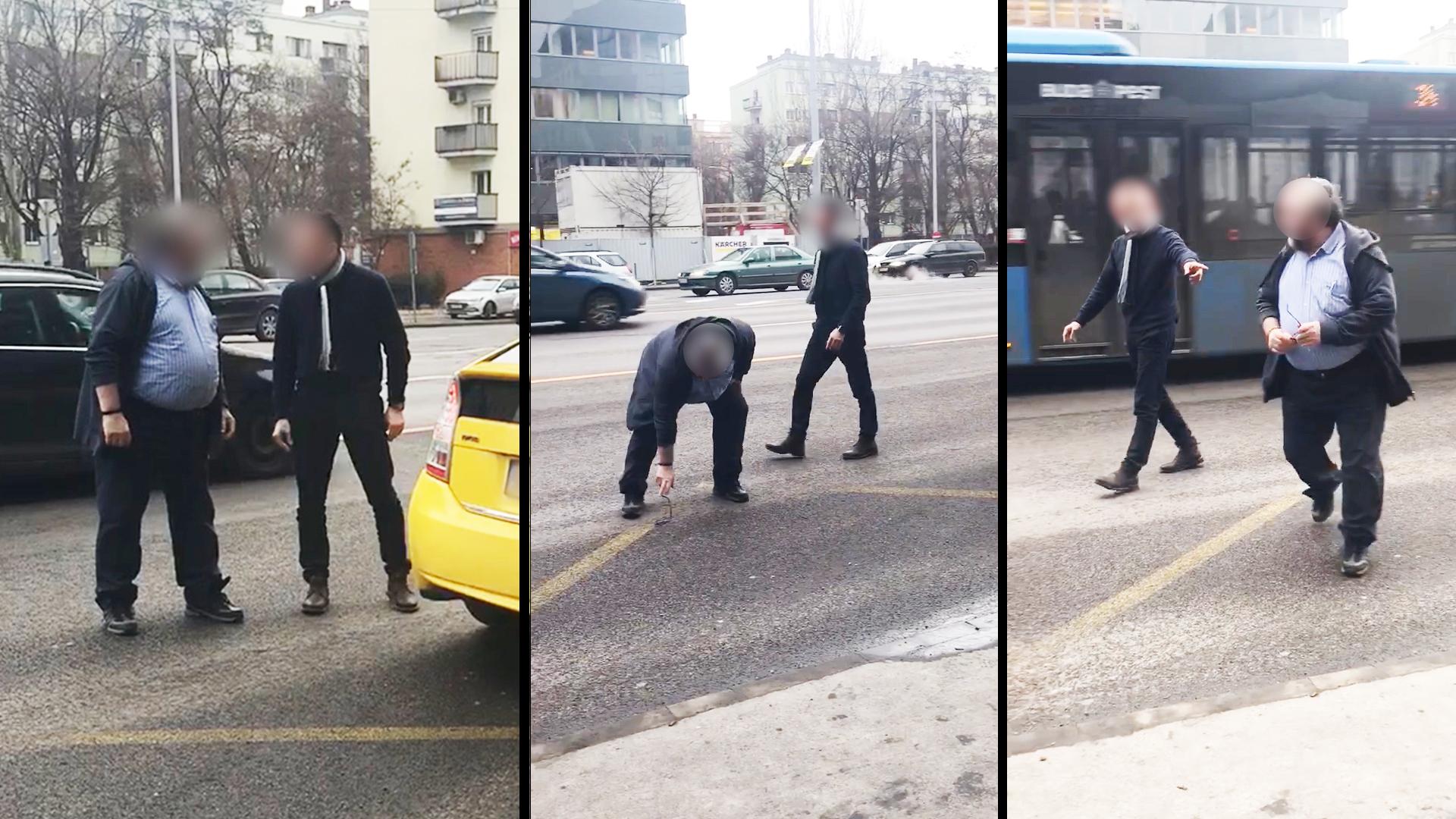 Ütötte egymást a buszsofőr és a taxis a Váci úton (frissítve)