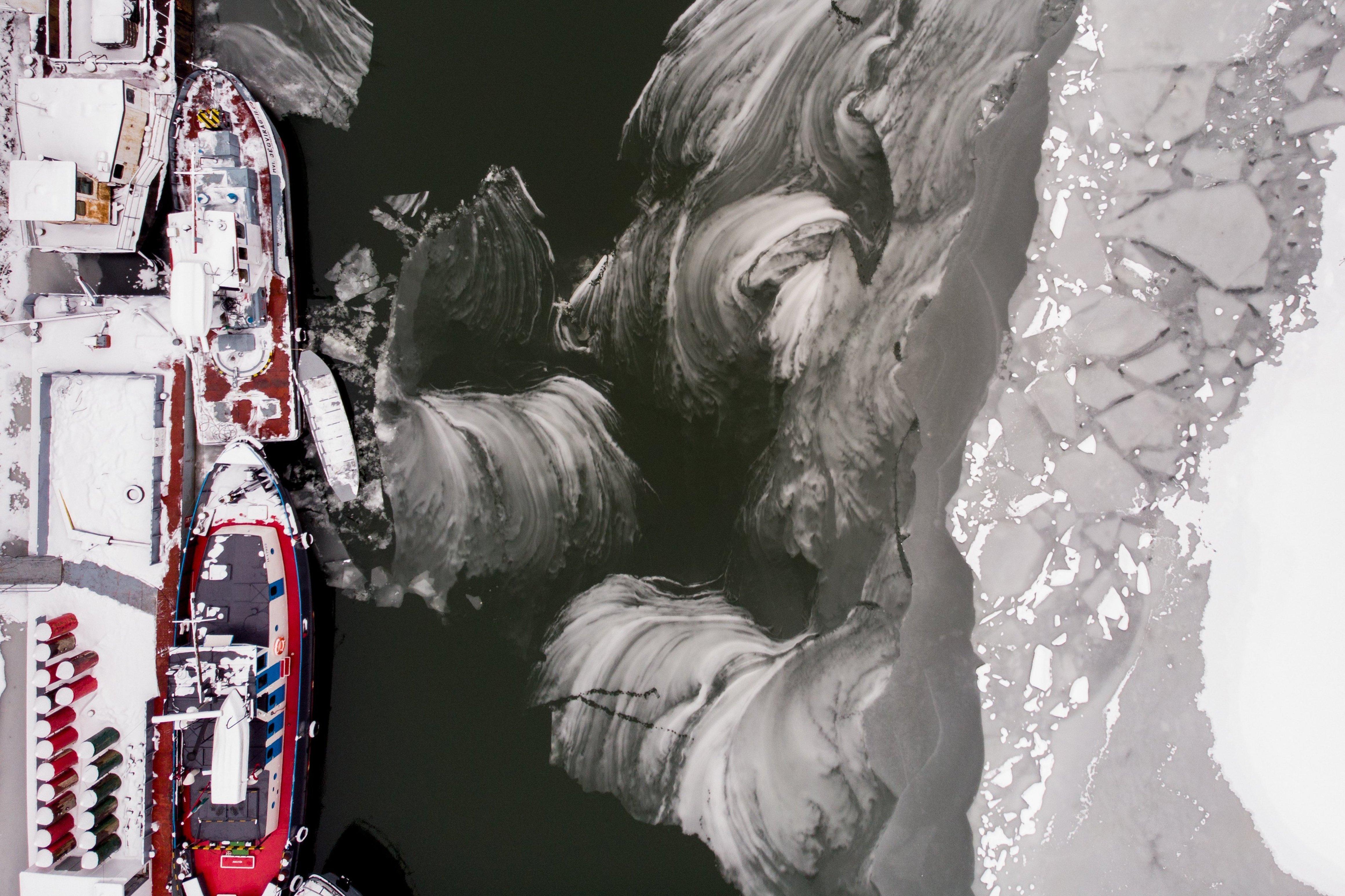 Fantasztikus látvány a félig befagyott Bodrog