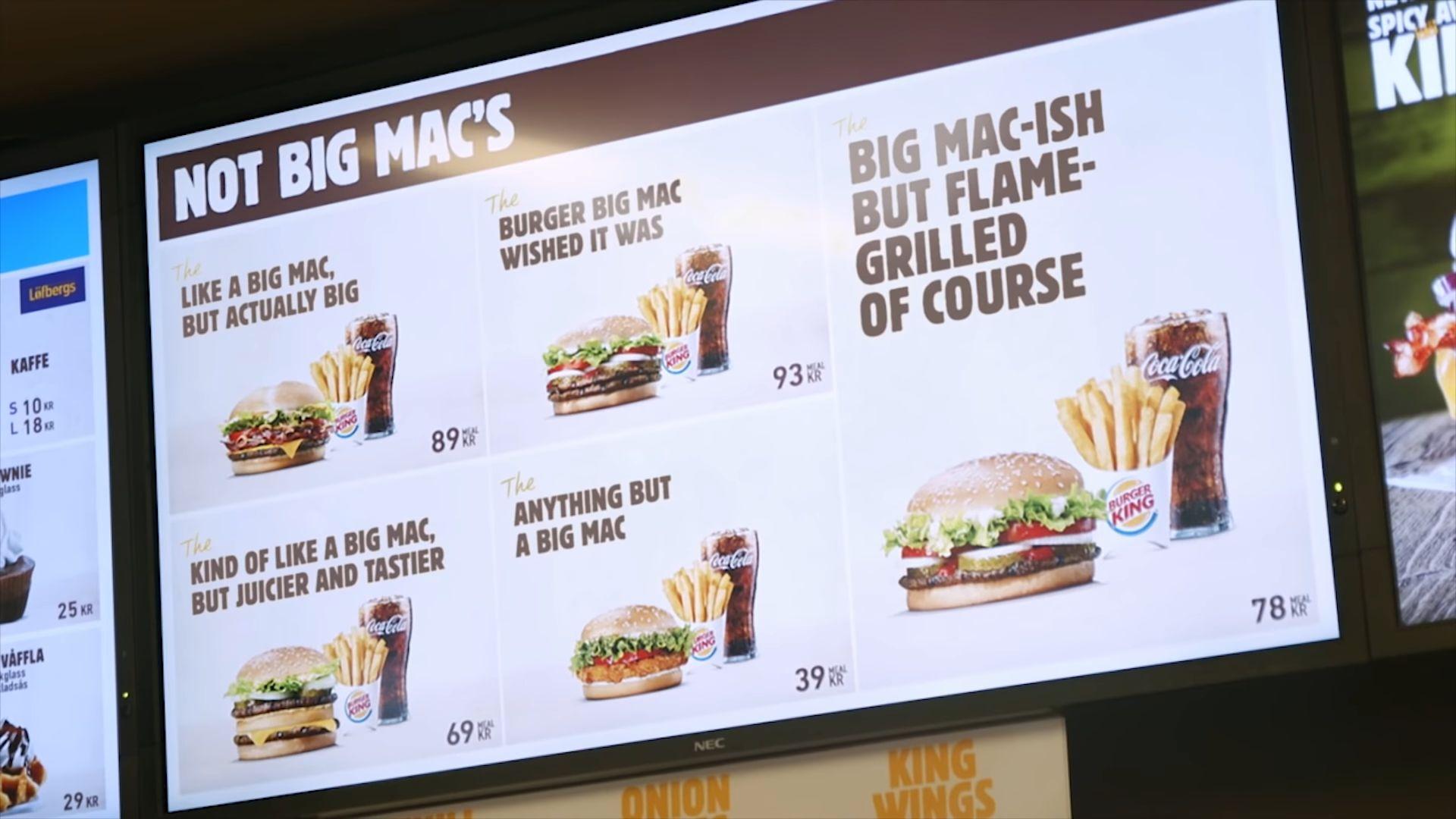 """""""Mint egy Big Mac, csak szaftosabb"""" – újrabrandelt hamburgerekkel trollkodja a McDonald's-ot a svéd Burger King"""