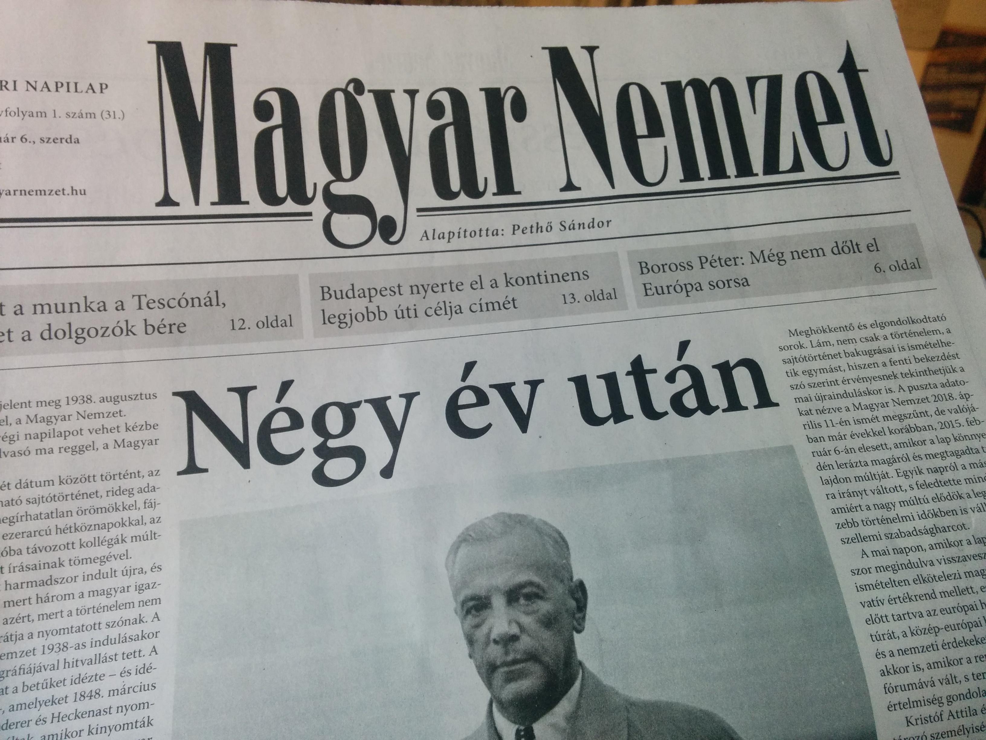 Újra a szellemi szabadságharc frontvonalában küzd a Magyar Nemzet
