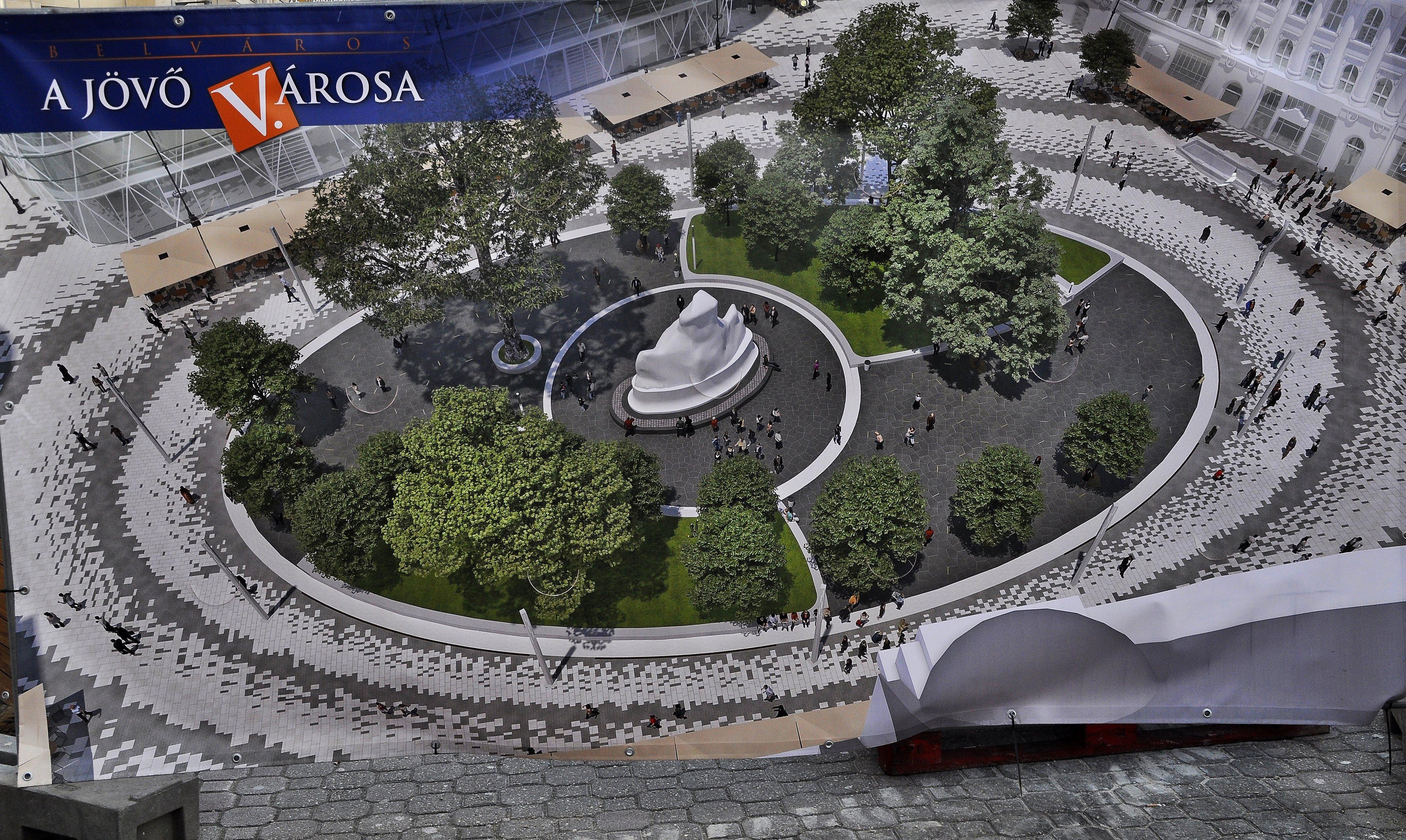 Így fog kinézni a Vörösmarty tér