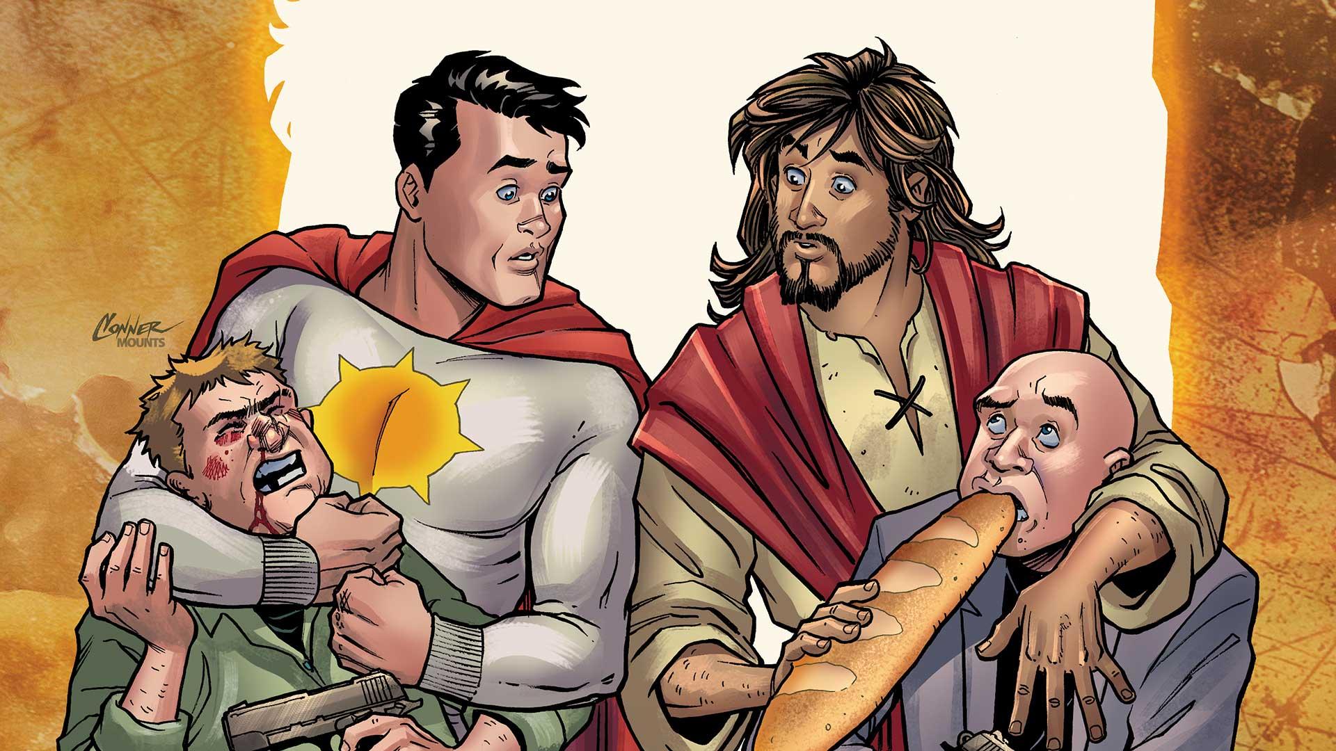 Mégsem mutatják be a szuperhőssel cimboráló Jézusról szóló képregényt