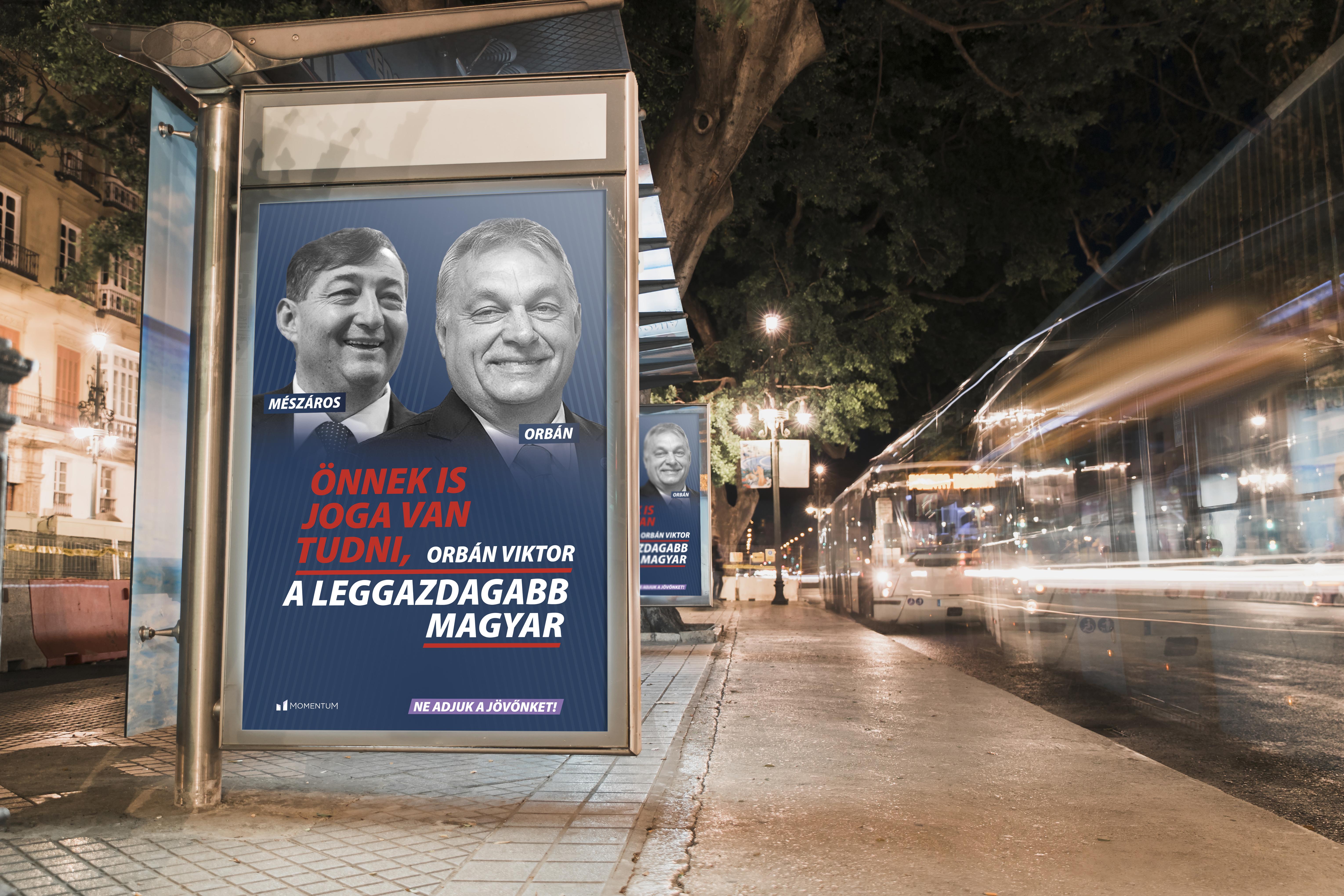 """A Momentum adományokból plakátolná tele """"a valódi problémákkal"""" az országot"""
