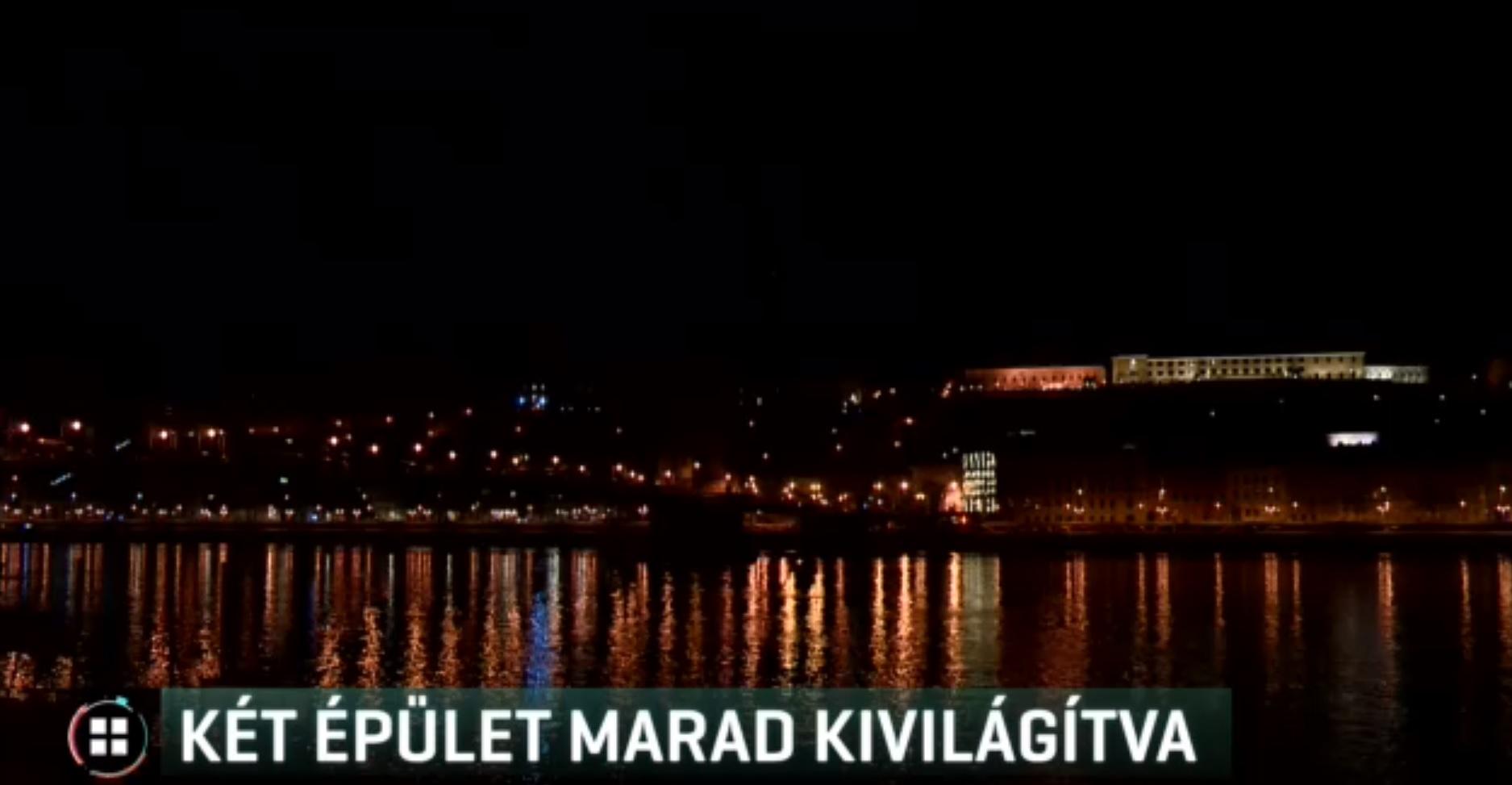 Éjfél után csak Orbán és Áder hivatala kap díszkivilágítást Budapesten