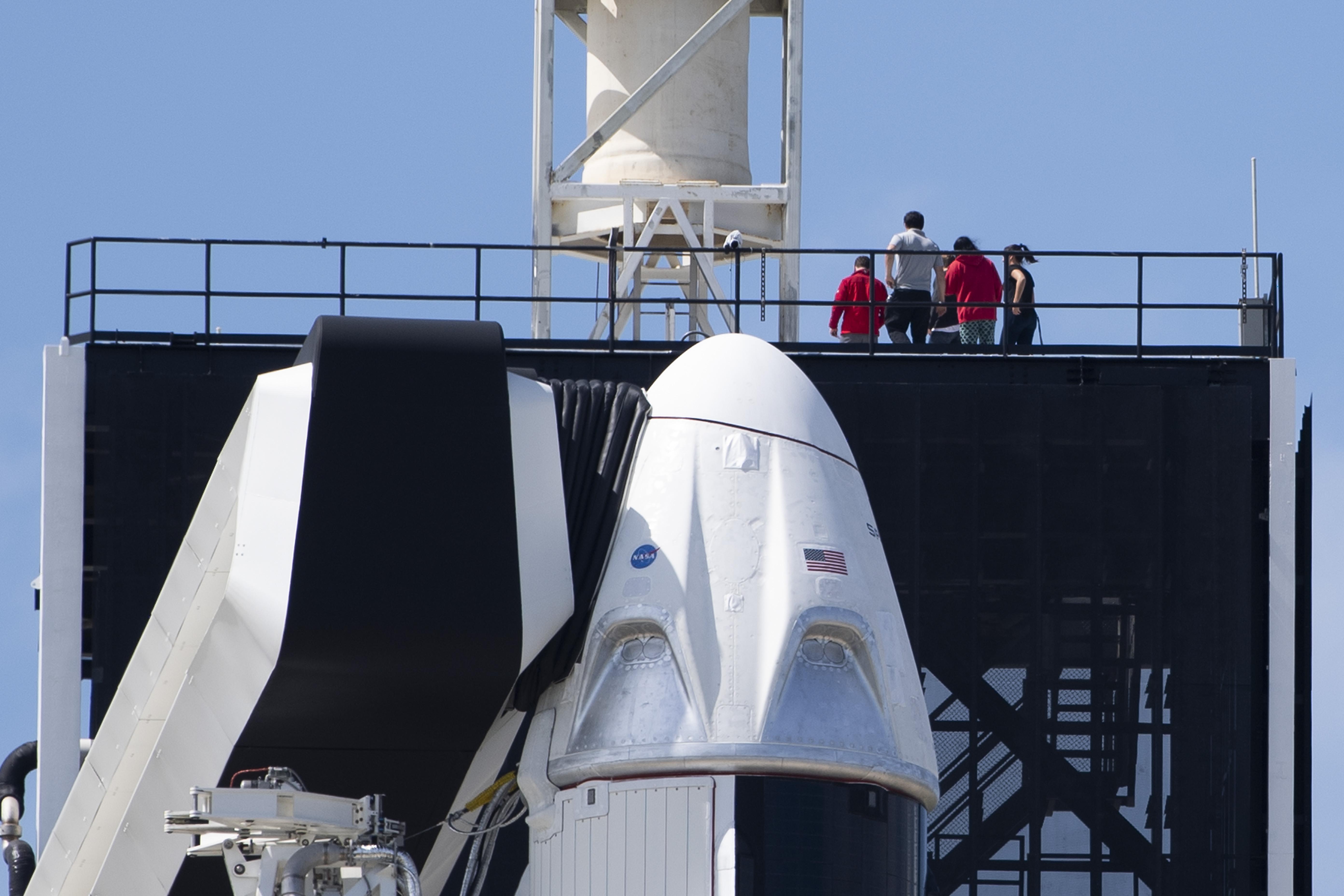 Útra kelt a SpaceX űrkapszulája