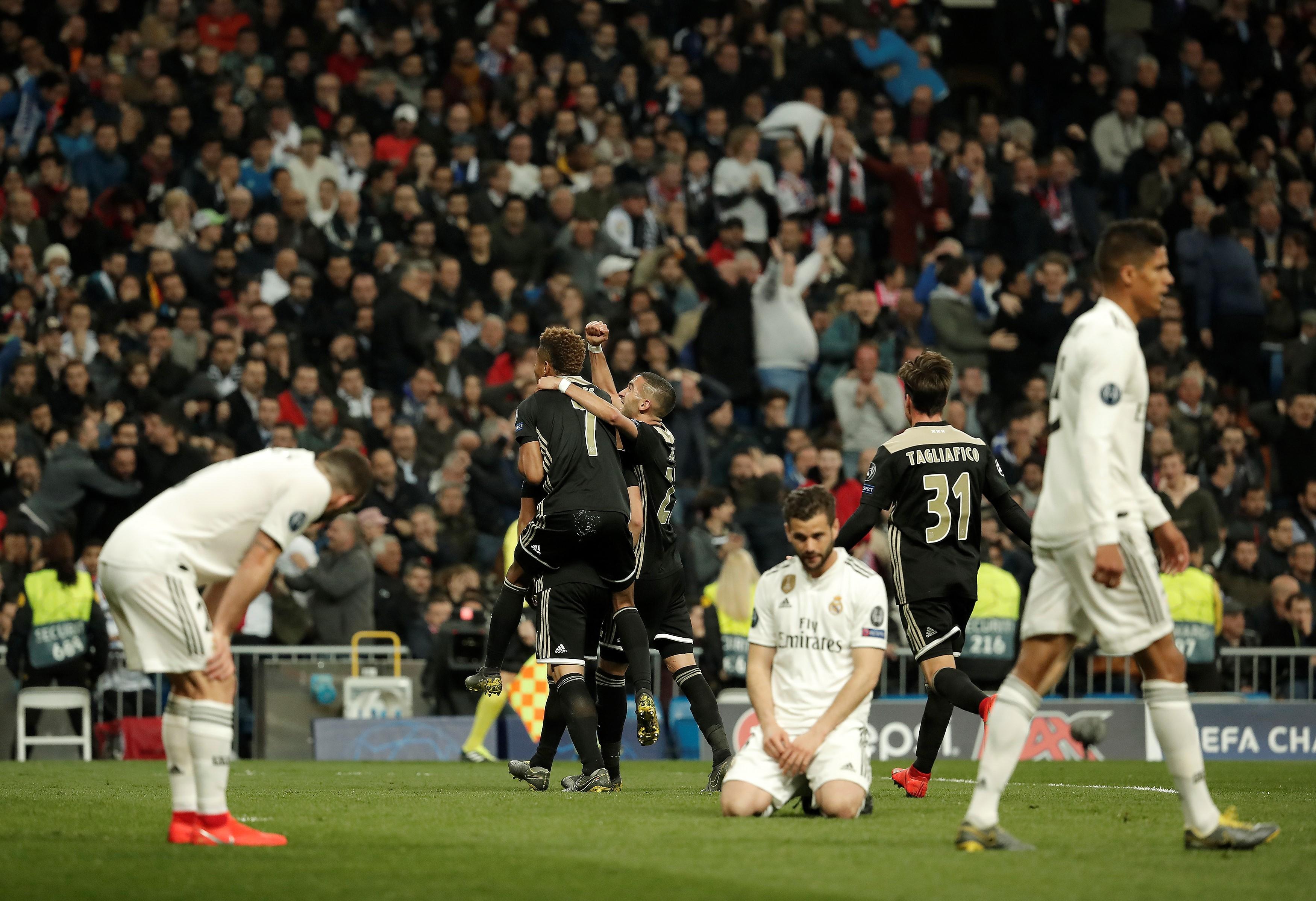 Kiverte az Ajax a Real Madridot a Bajnokok Ligájából
