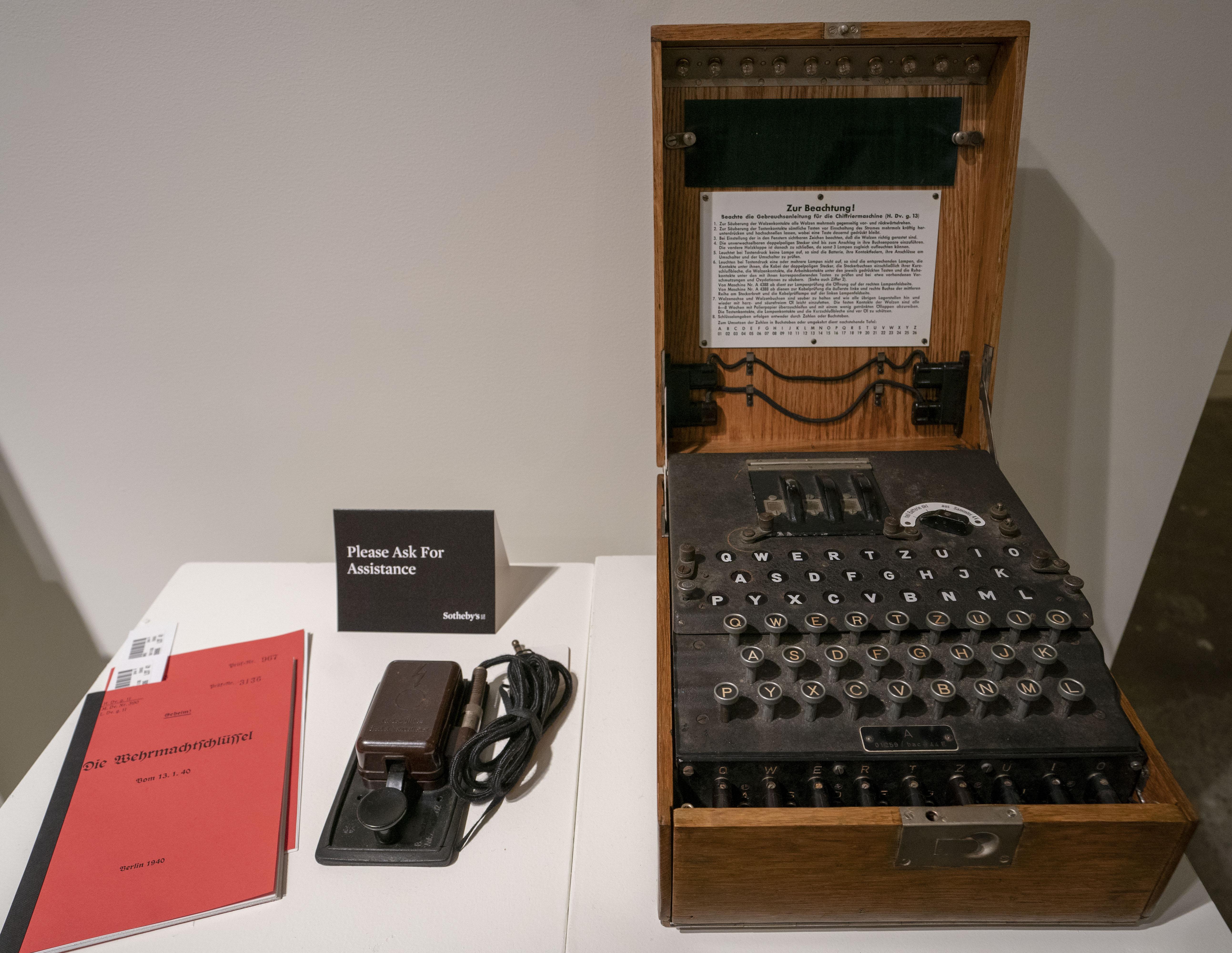Náci Enigma kódológépeket találtak a Balti-tengerben