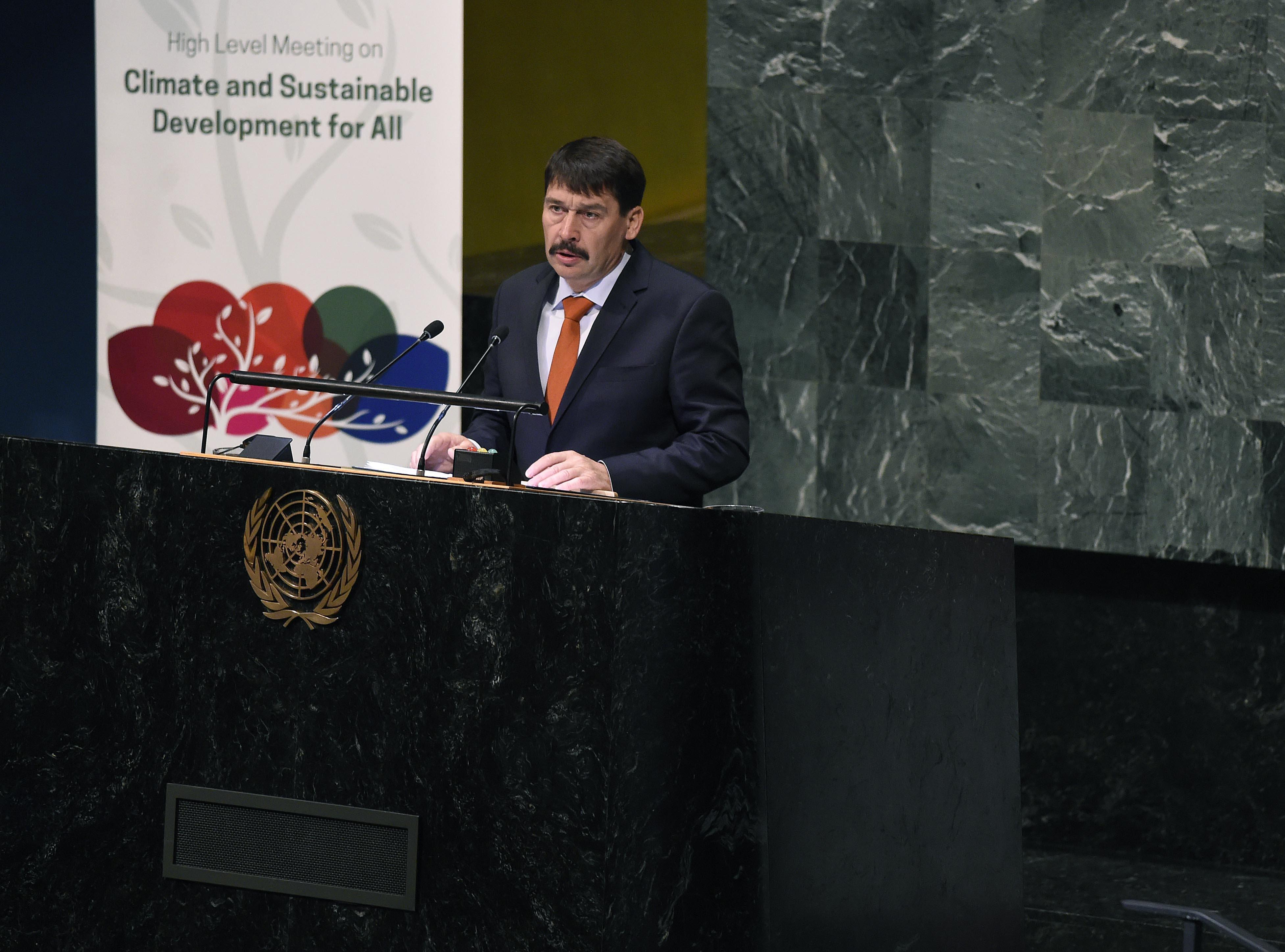 Áder az ENSZ-ben aggódott a klímaváltozásért, miközben a magyar kormány vétózta meg az uniós közös célt